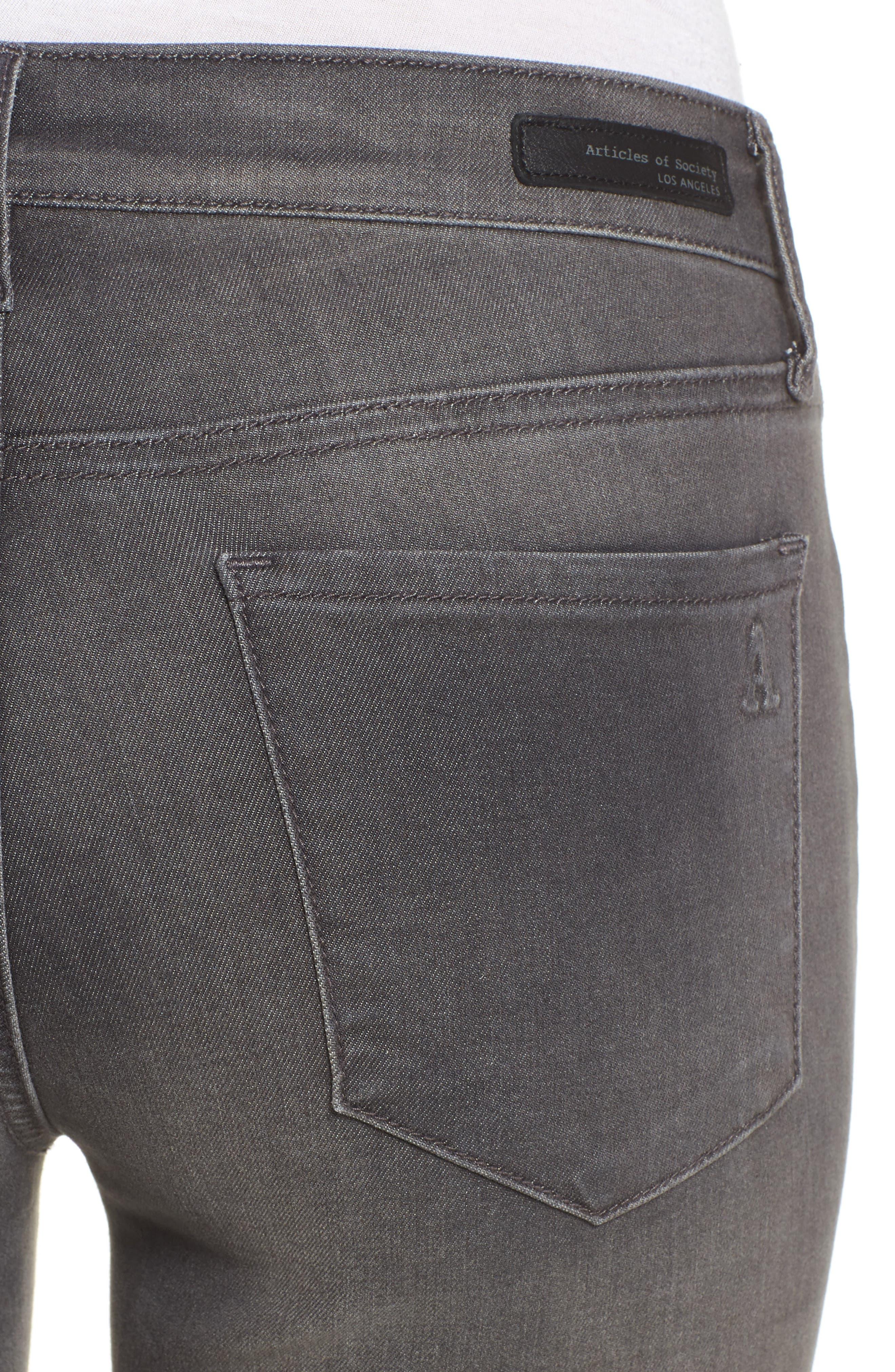 Alternate Image 4  - Articles of Society Sarah Skinny Jeans