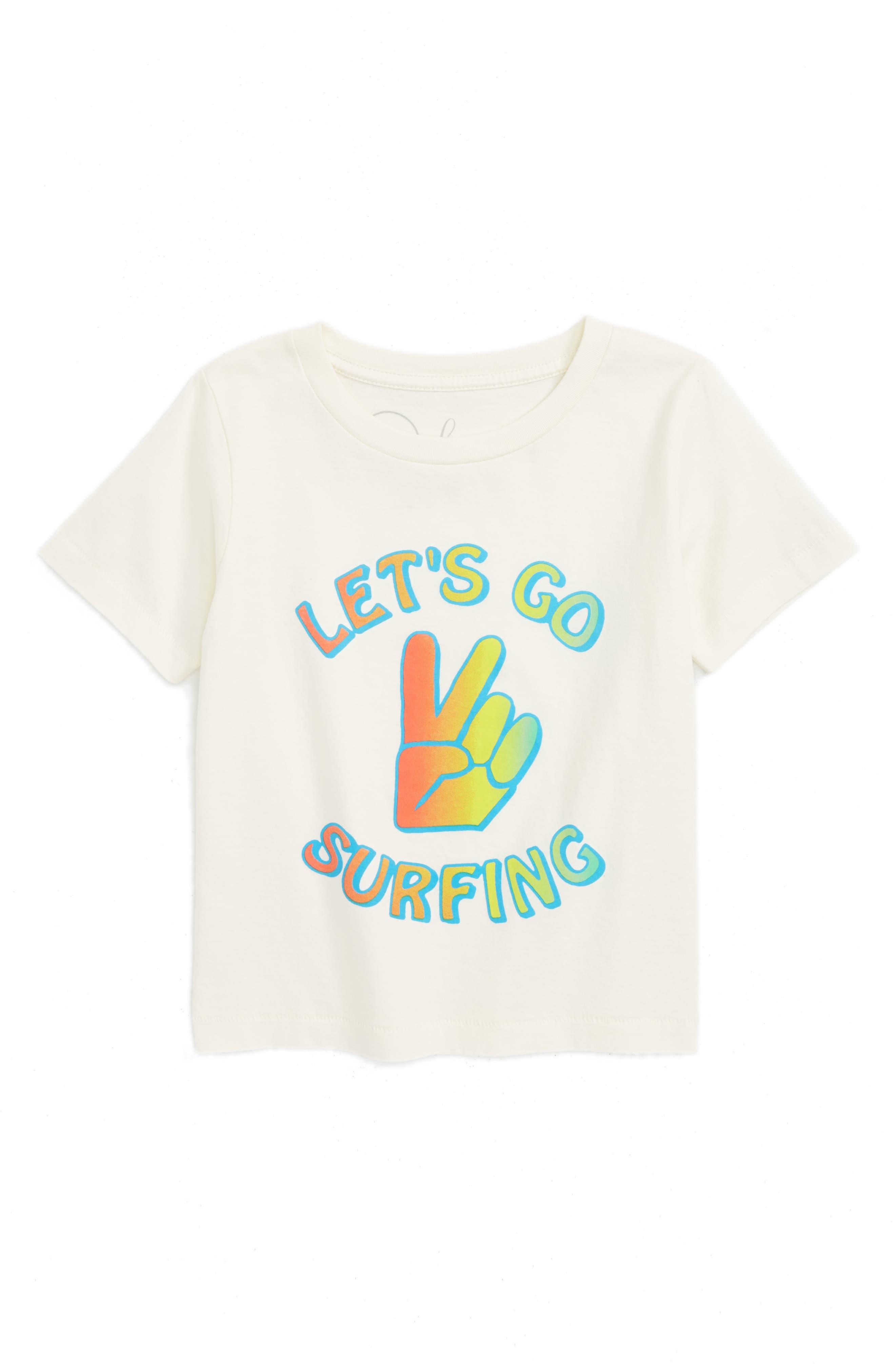 Peek Let's Go Surfing T-Shirt (Toddler Boys, Little Boys & Big Boys)