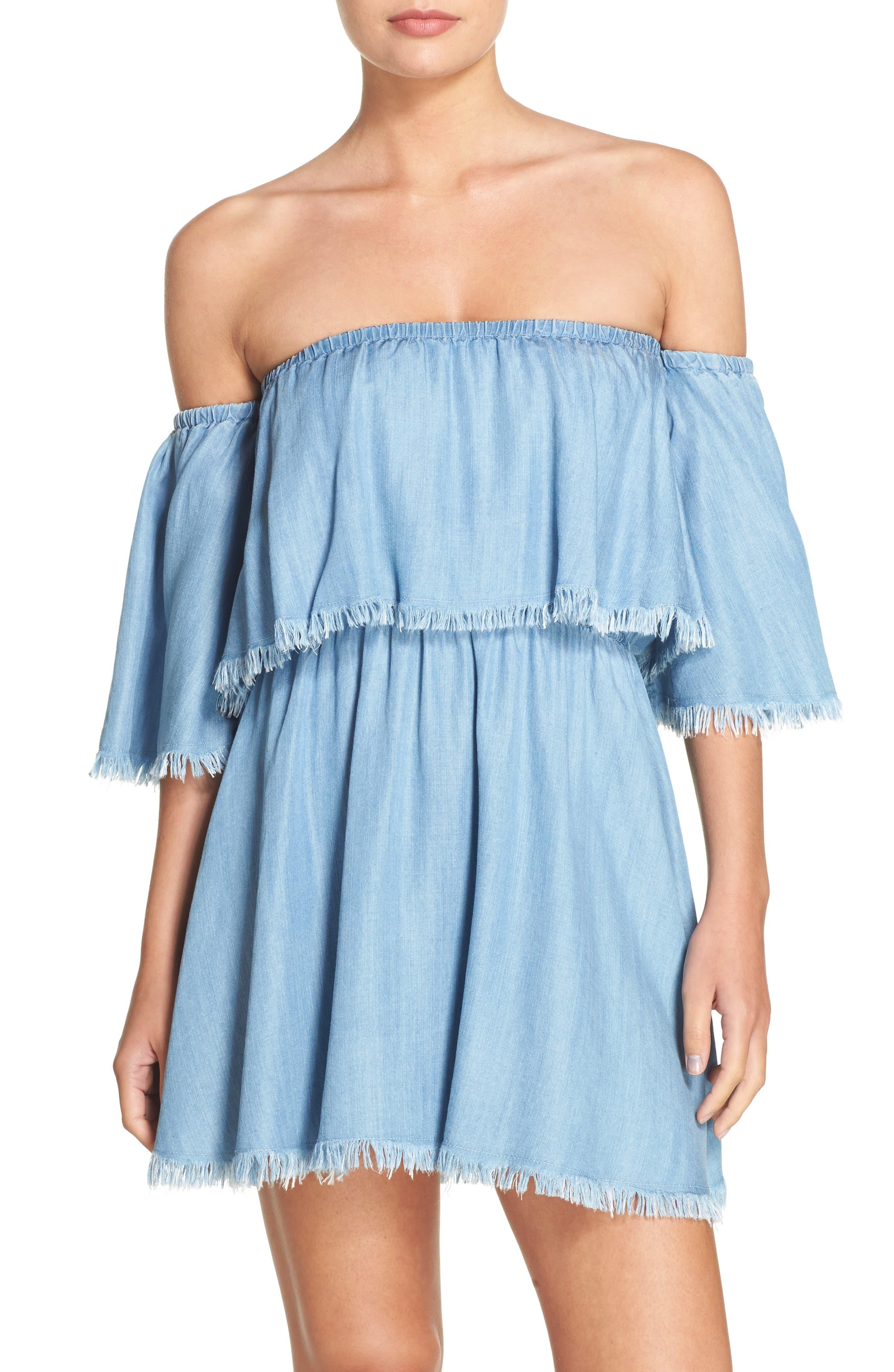 Elan Off the Shoulder Cover-Up Dress