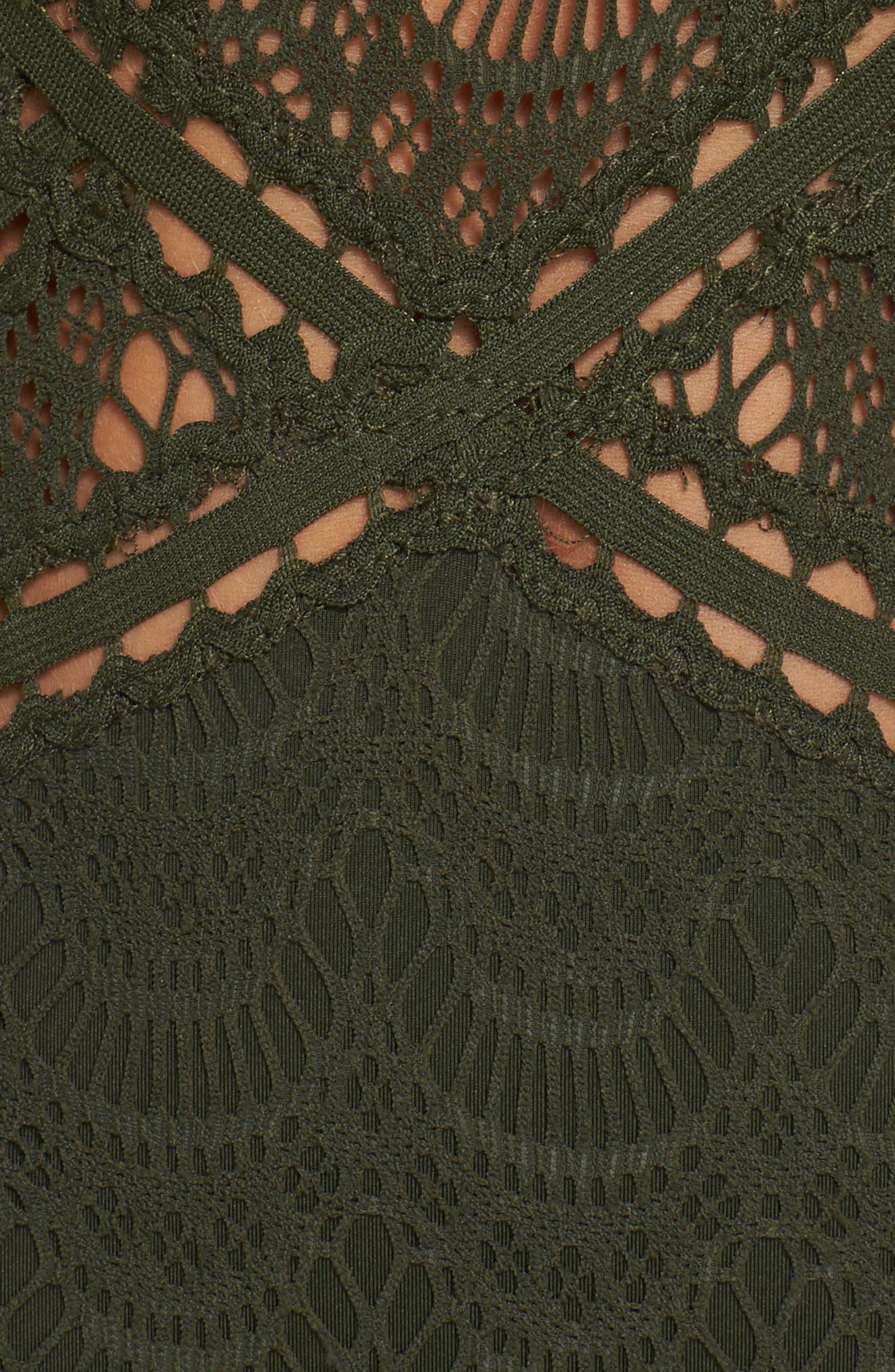 Alternate Image 6  - Becca Crochet One-Piece Swimsuit