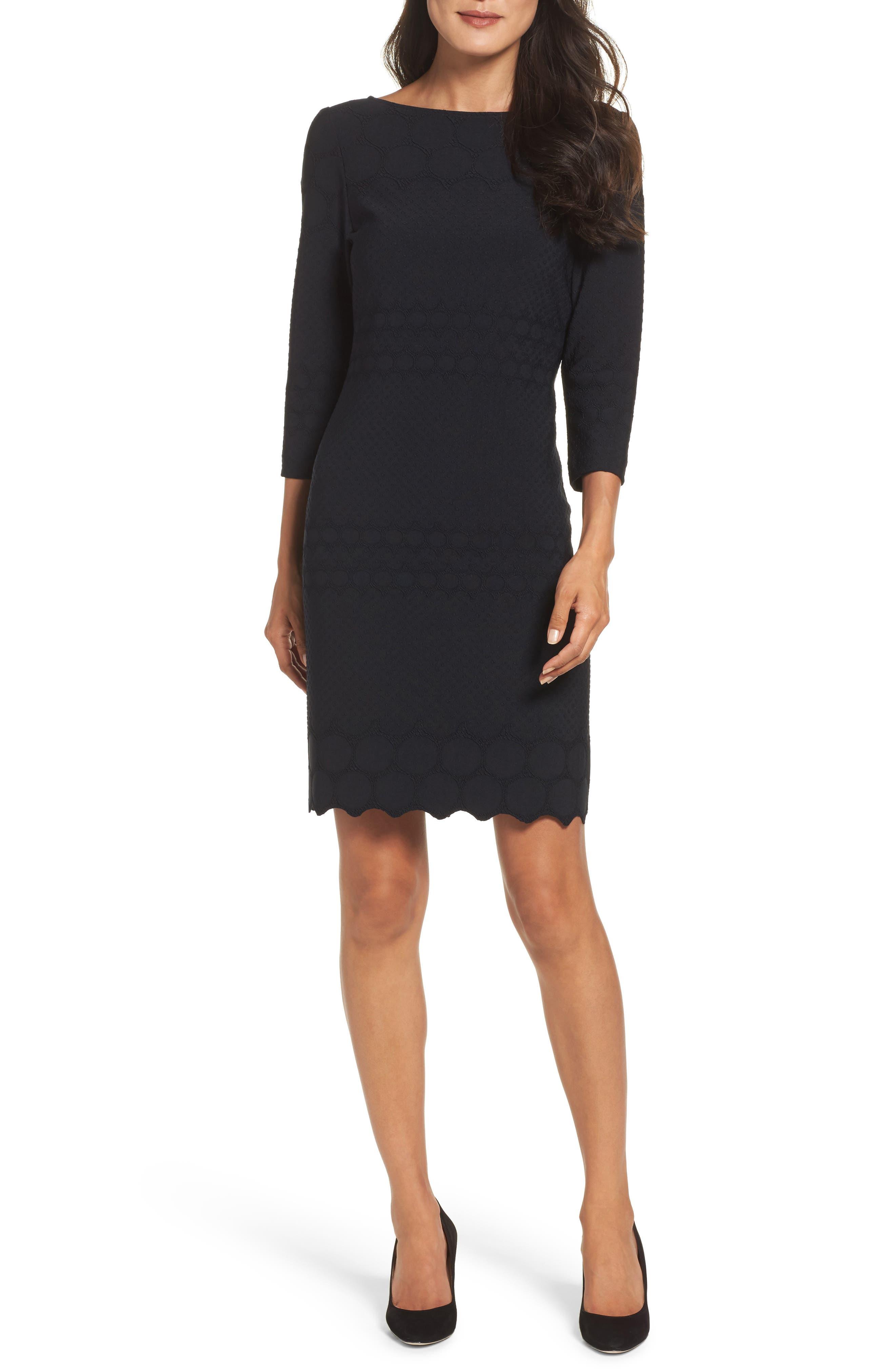 Julia Jordan Eyelet Sheath Dress (Online Only)