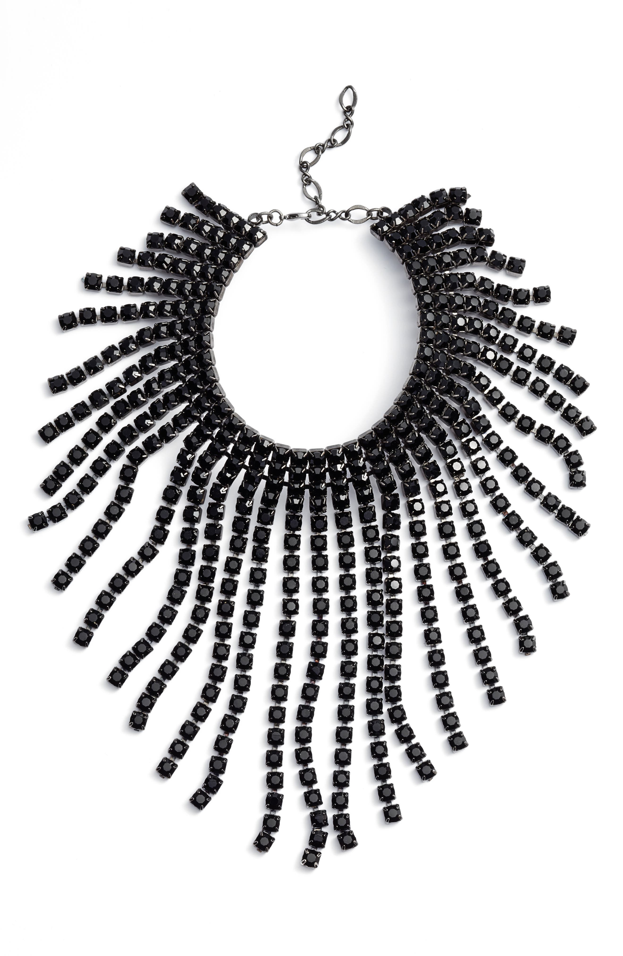 CRISTABELLE Graduated Fringe Statement Necklace