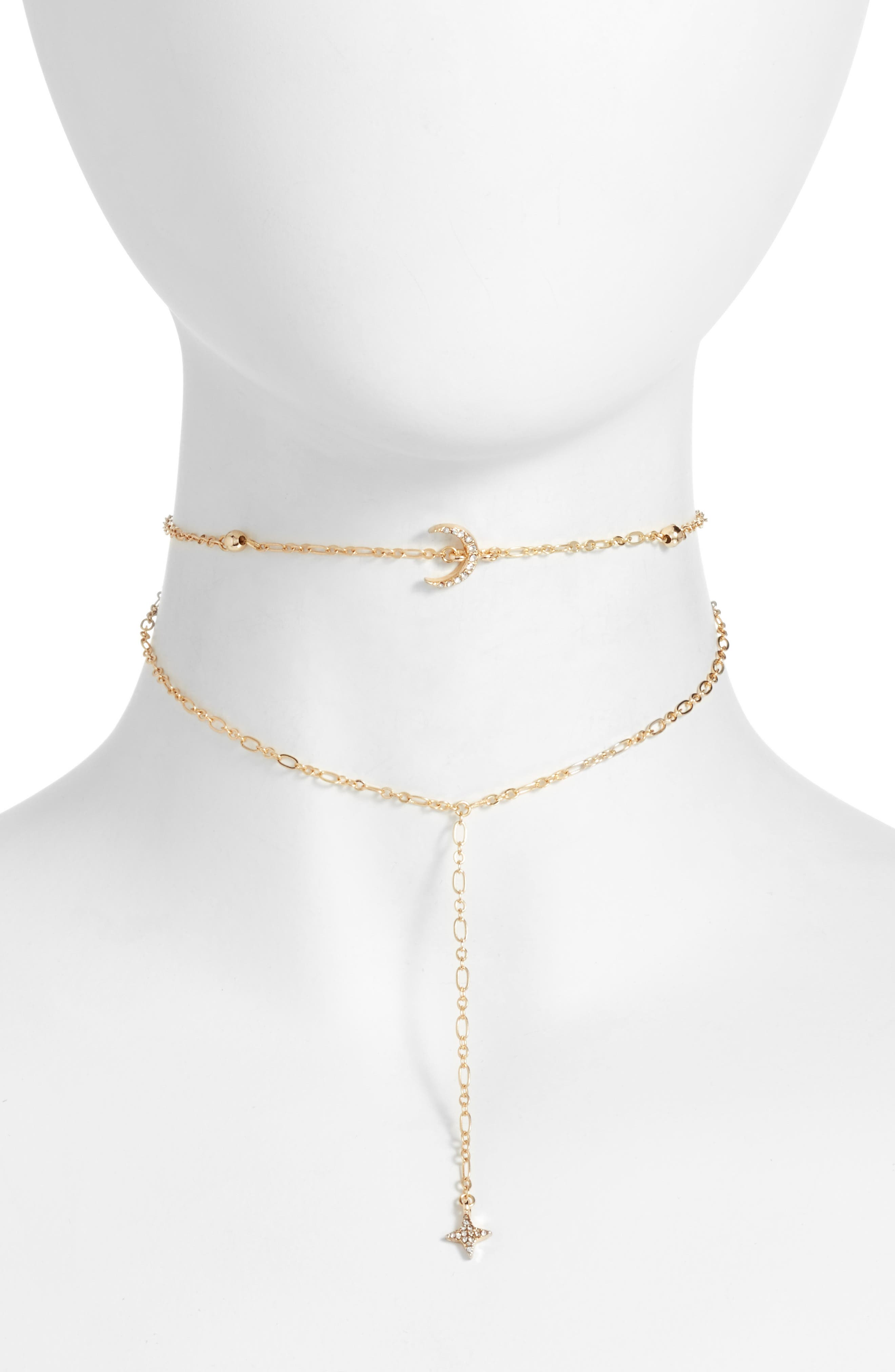 Ettika Crystal Charm Layered Choker