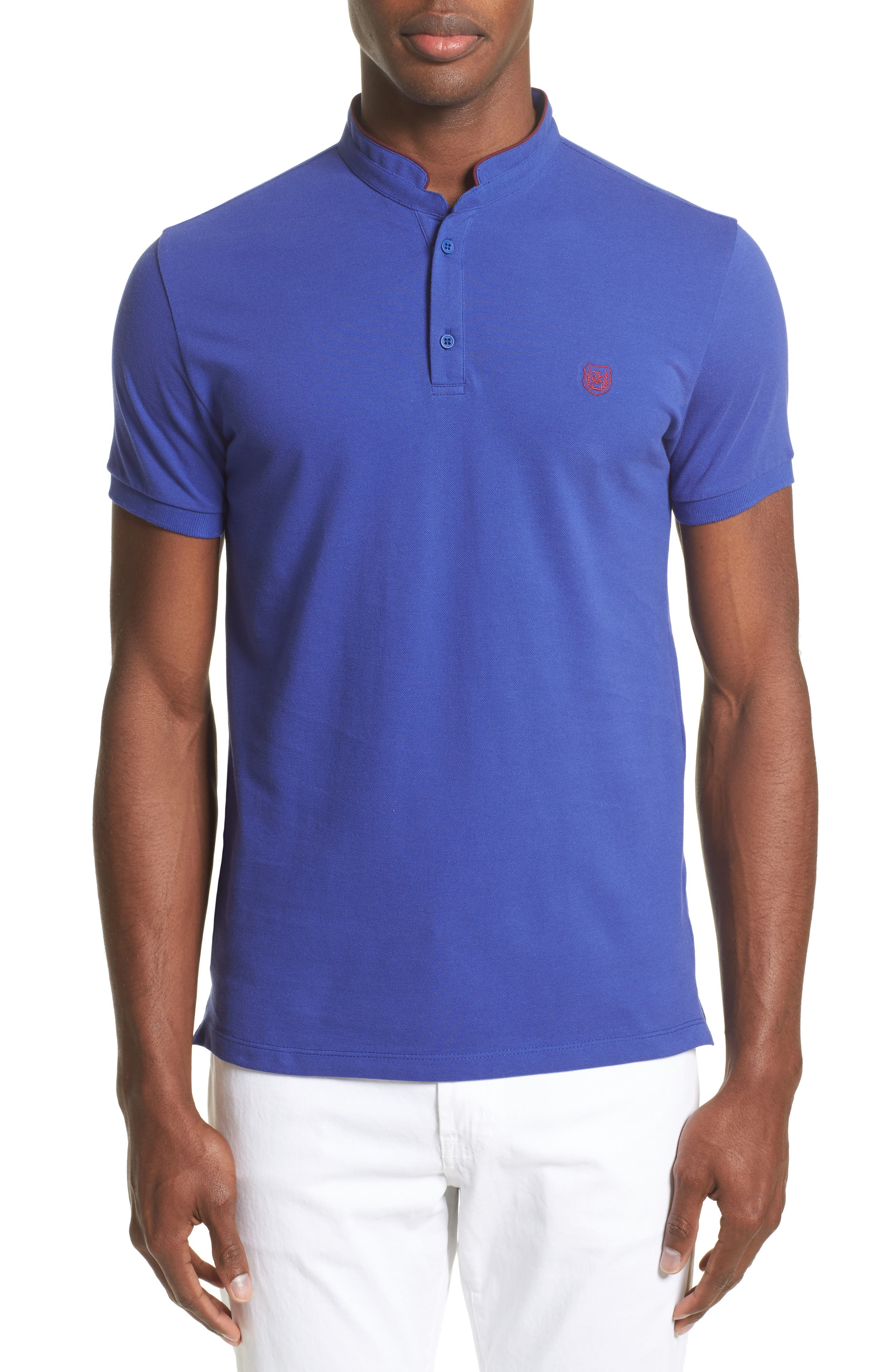 The Kooples Contrast Officer Collar Polo