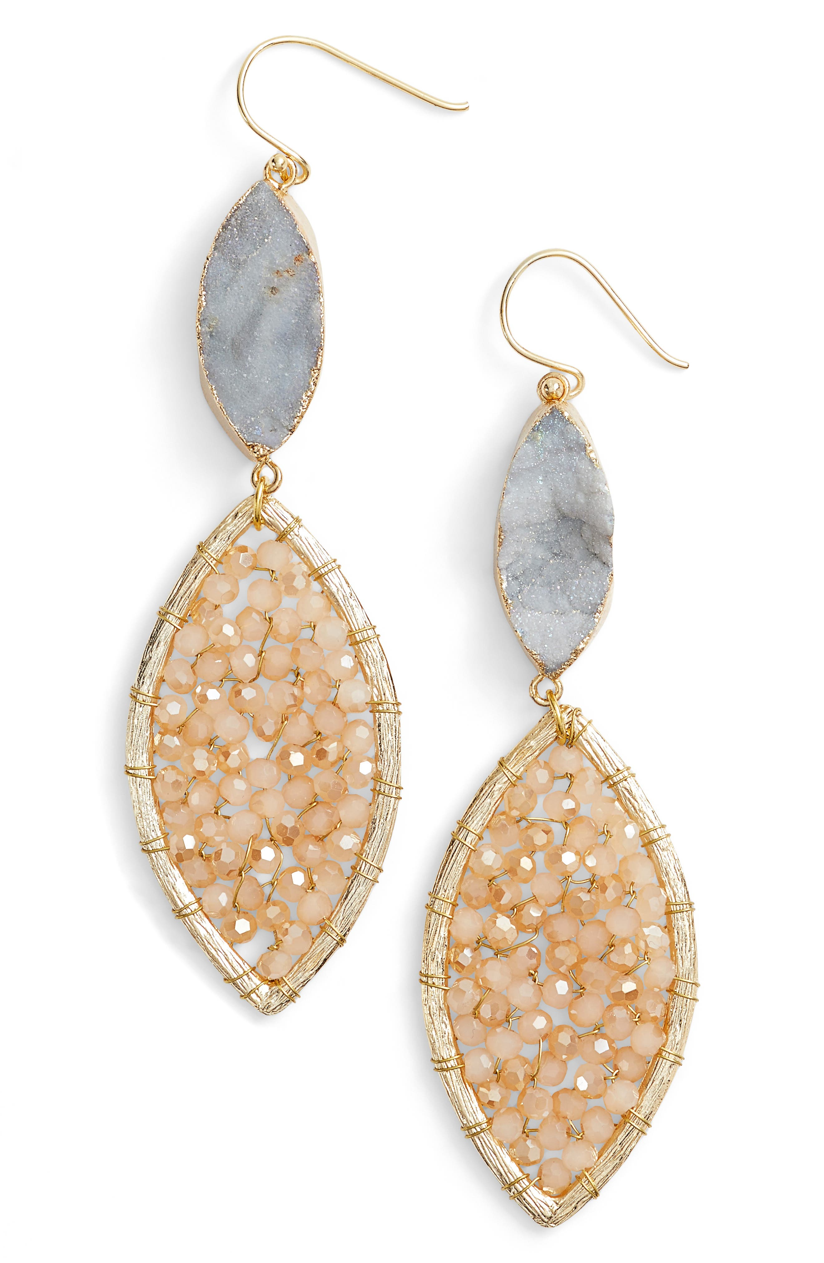 Panacea Sunstone Crystal Earrings