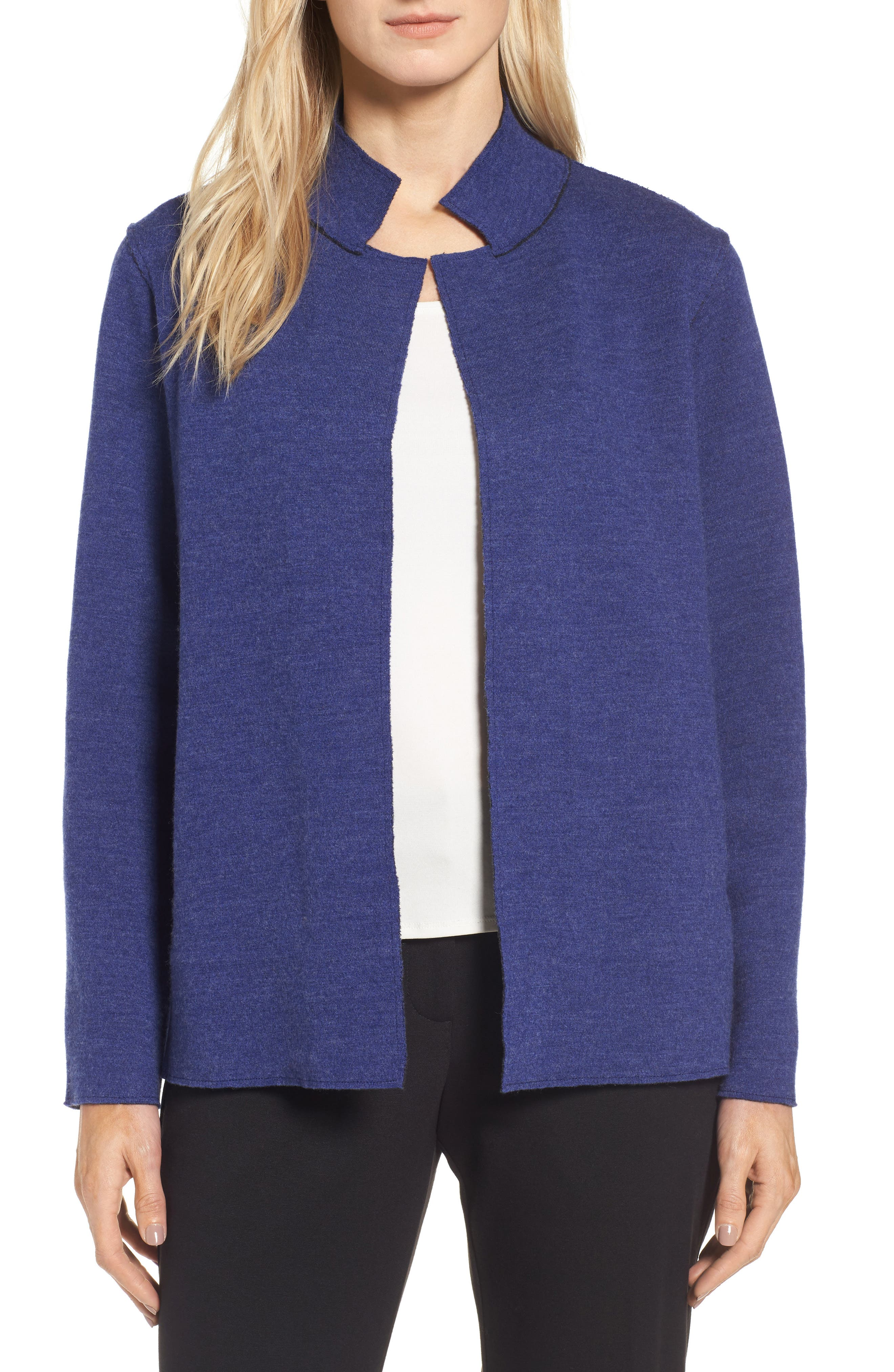 Eileen Fisher Merino Wool Blend Jacket (Regular & Petite)