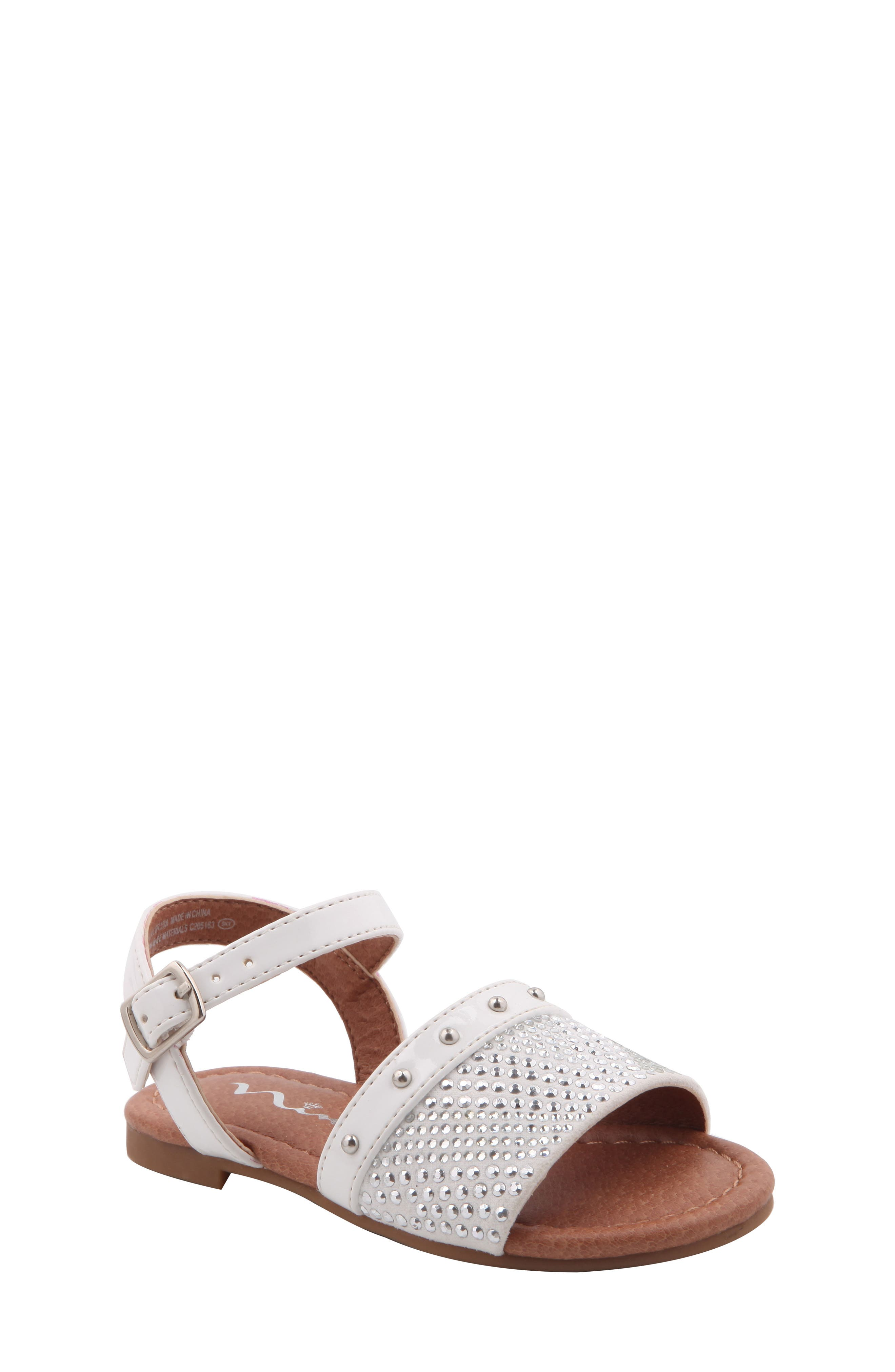 Nina Ibbie Embellished Sandal (Walker & Toddler)