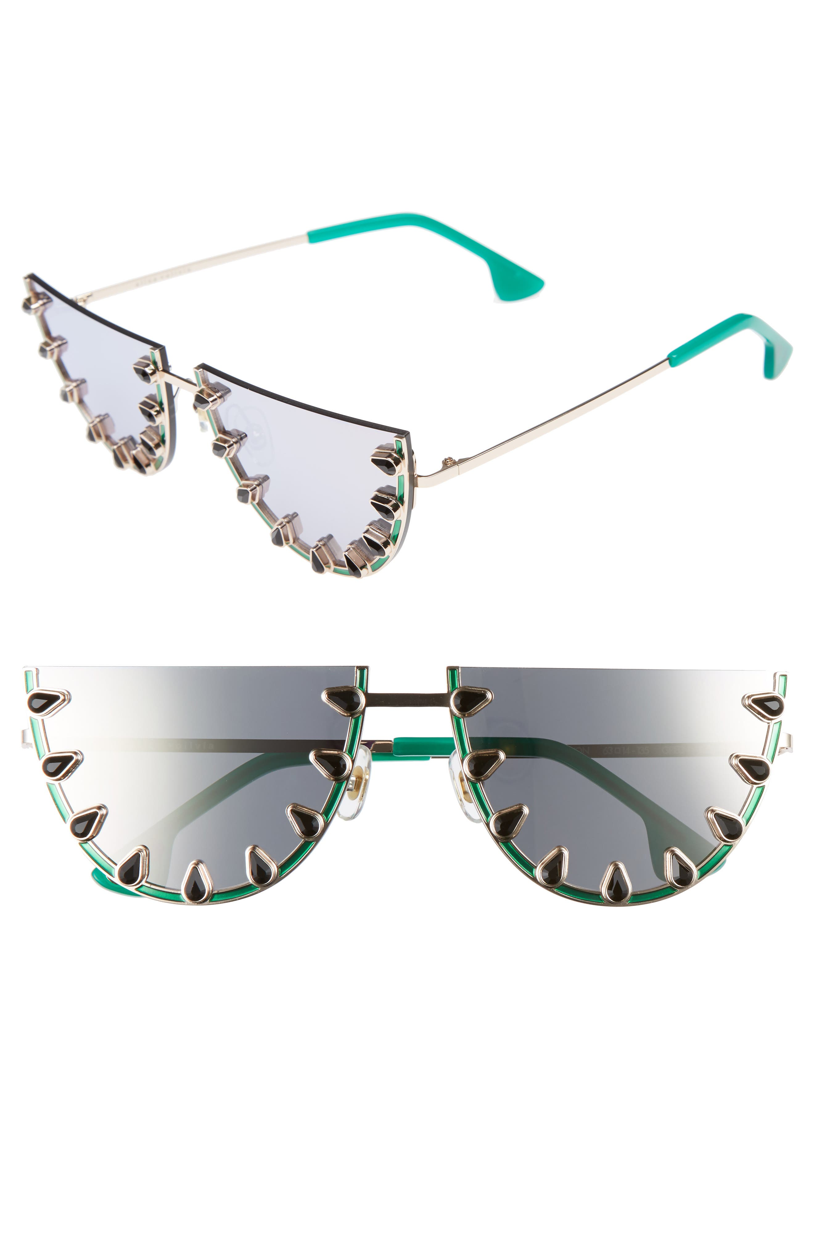 Main Image - Alice + Olivia Palm Canyon 63mm Watermelon Special Fit Half Rim Sunglasses