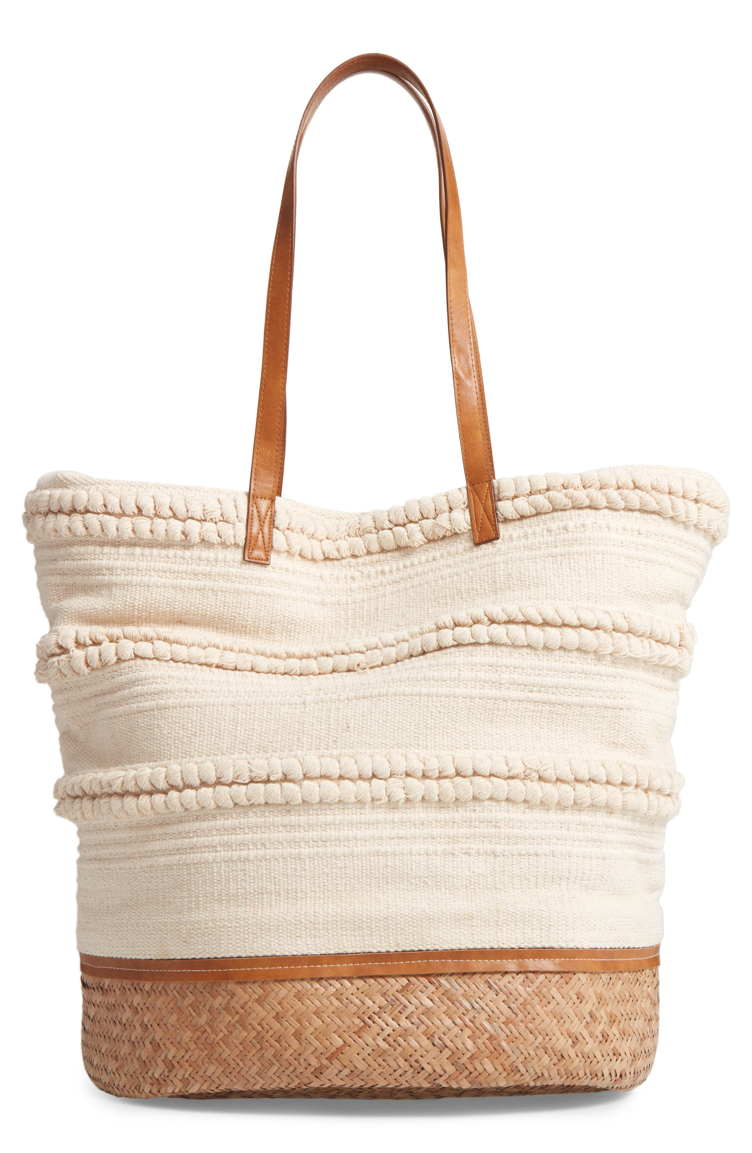 Alternate Image 1 Selected - Sole Society Woven Bottom Tote
