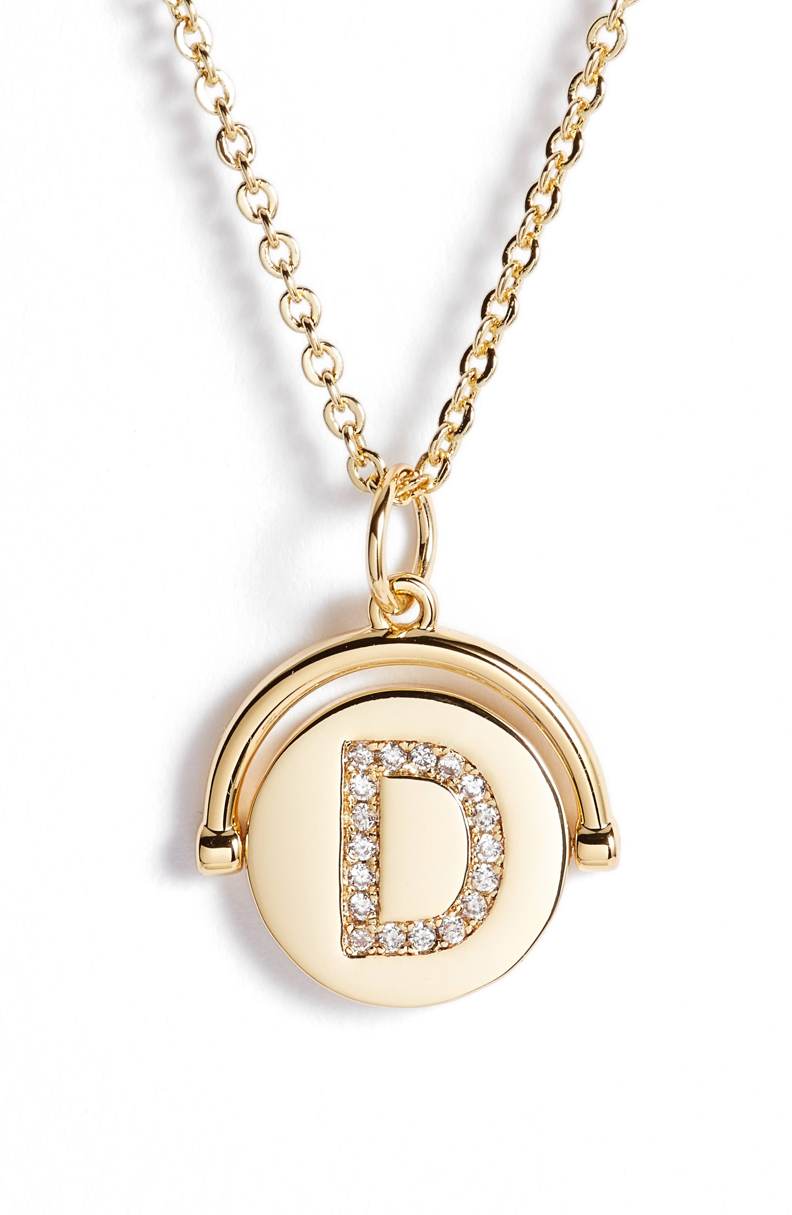 lulu dk Love Letters Spinning Initial Necklace