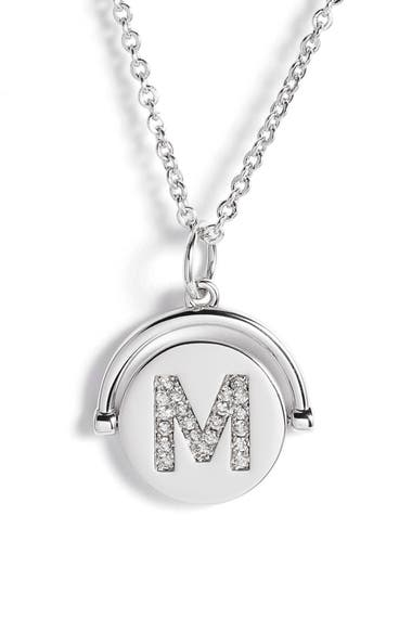 8bef6667a Lulu Dk Love Letters Initial Spinning Pendant Necklace In Silver/ M ...