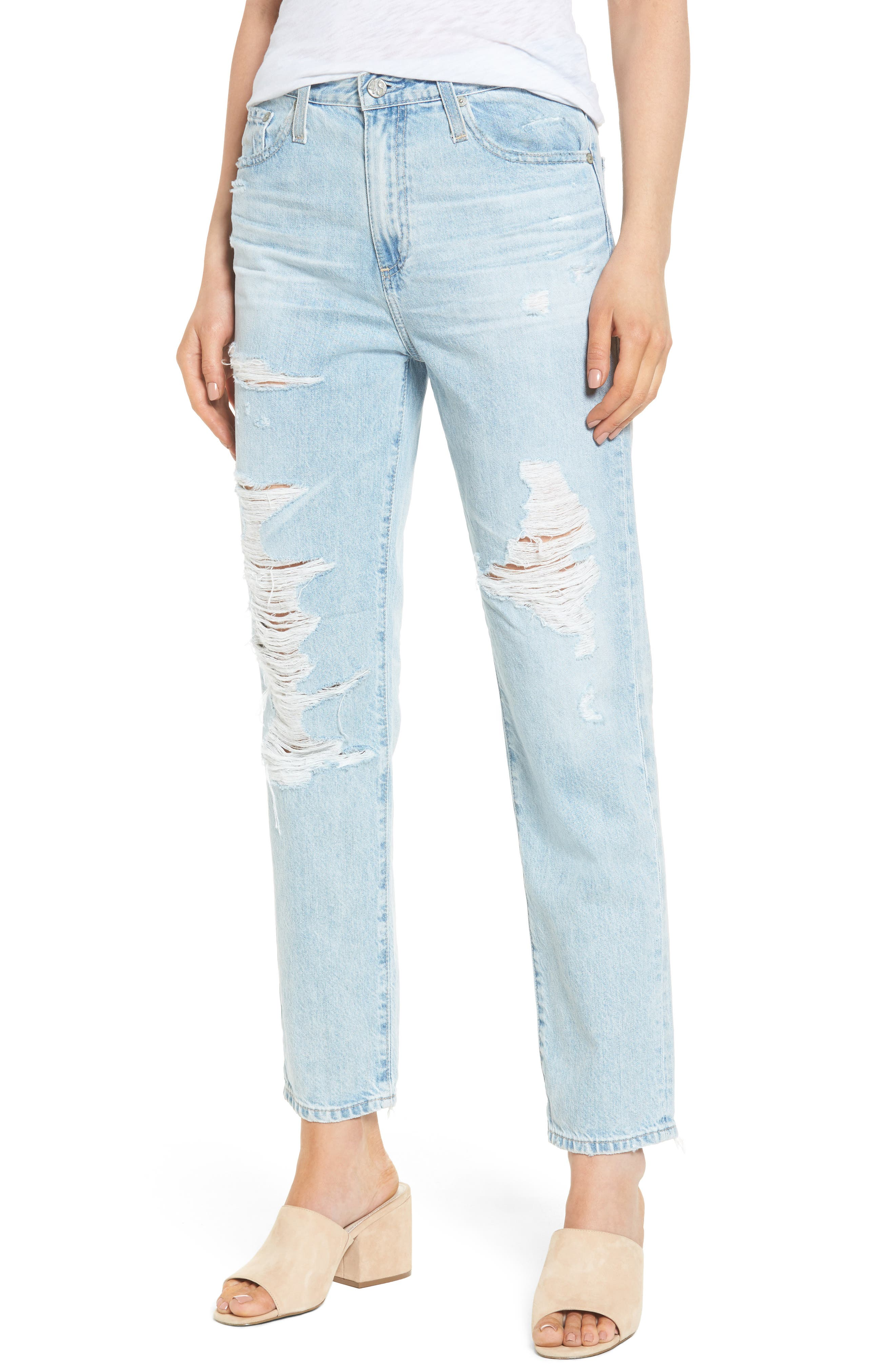 AG The Phoebe High Rise Slim Straight Leg Jeans