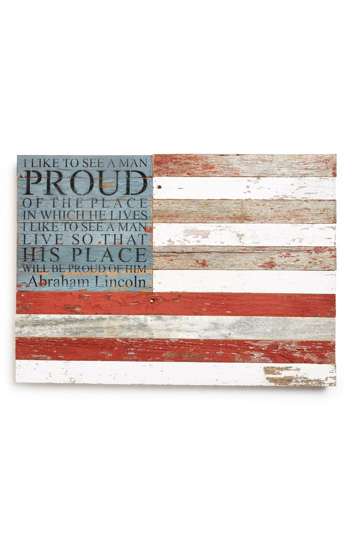 Second nature by hand american flag repurposed wood wall American flag wood wall art