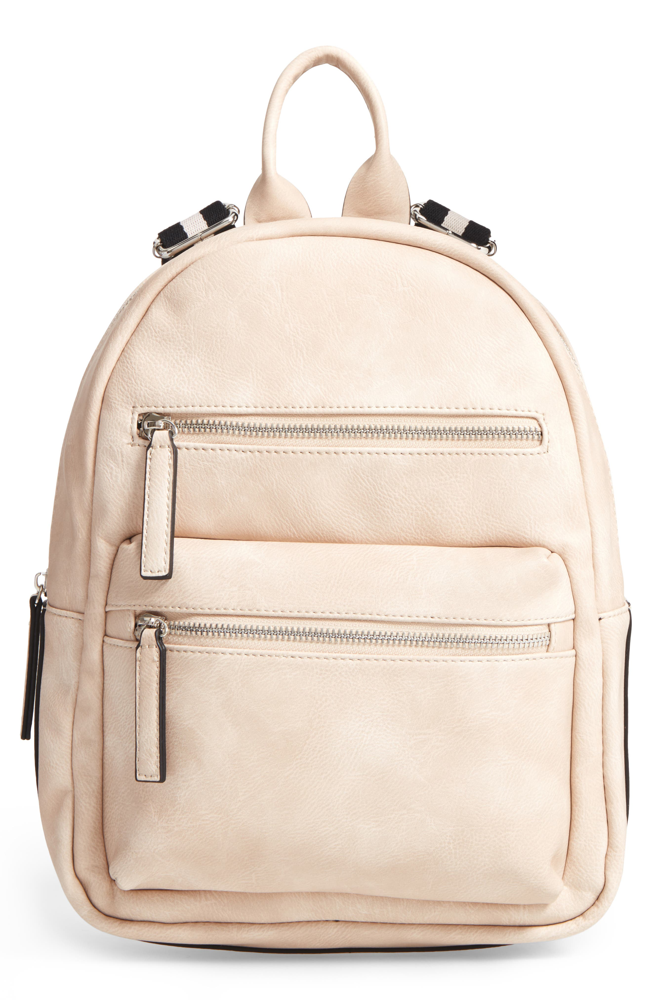 Phase 3 Faux Leather Backpack
