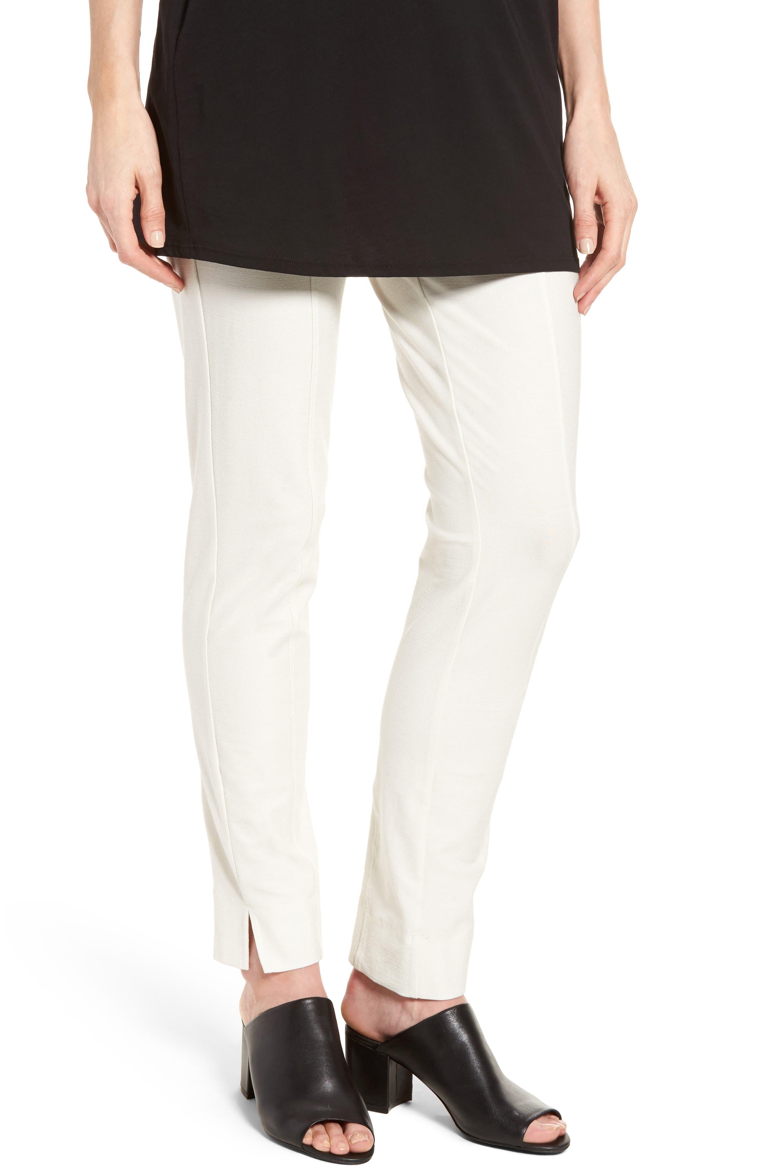 Eileen Fisher Slim Knit Pants (Regular & Petite)