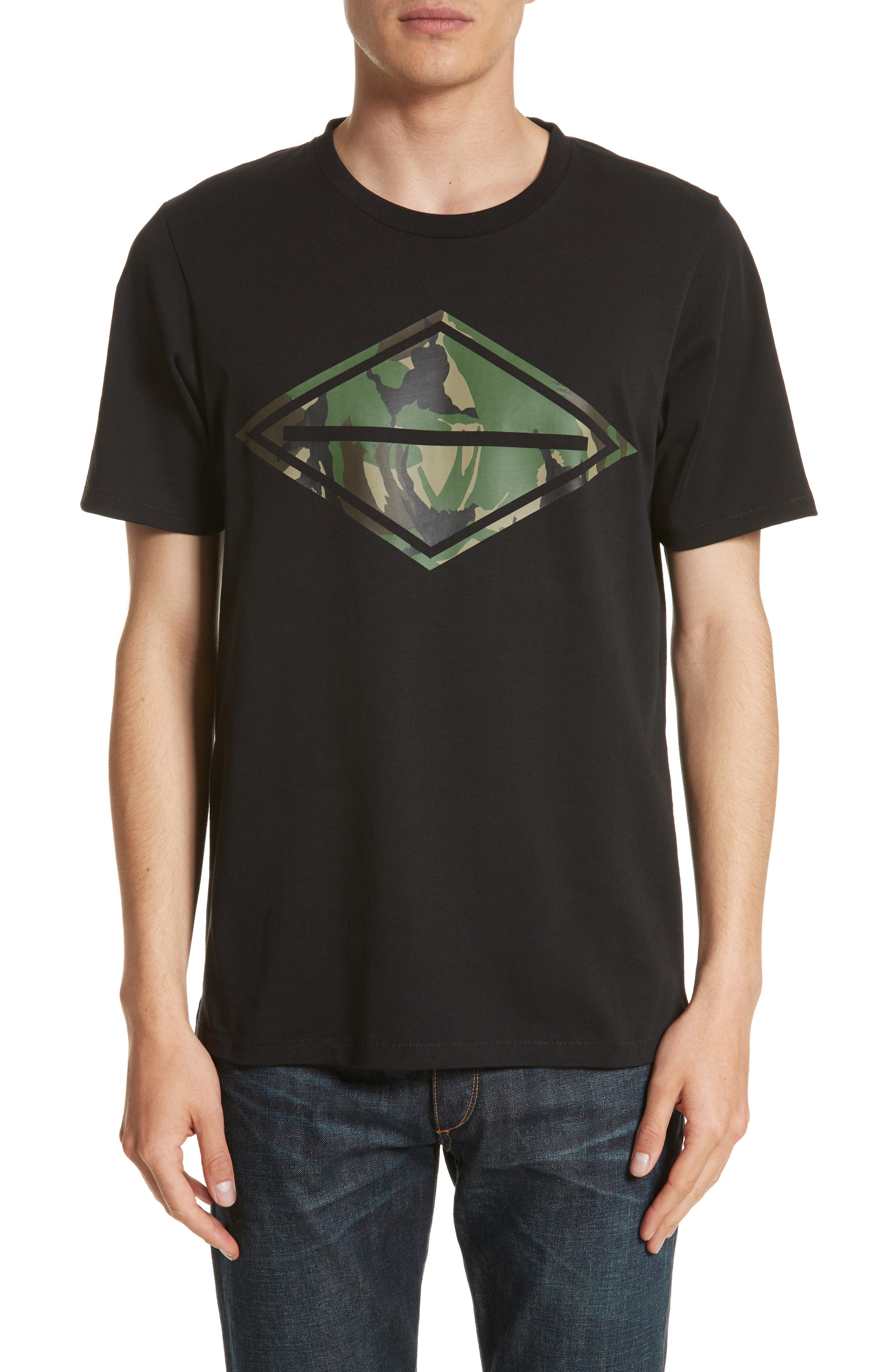 rag & bone Camo Diamond Graphic T-Shirt
