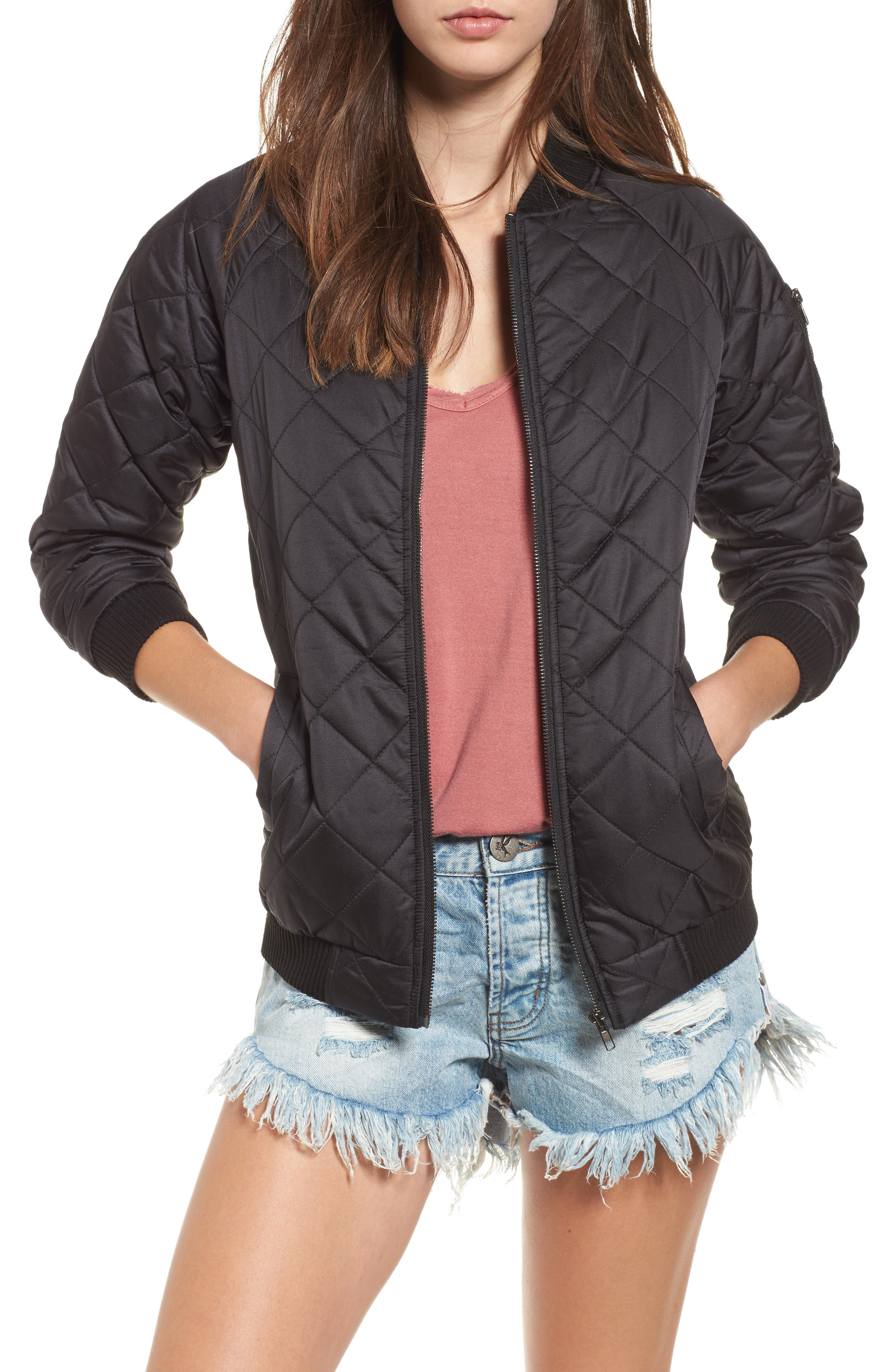 Lira Clothing La Rosa Quilted Bomber