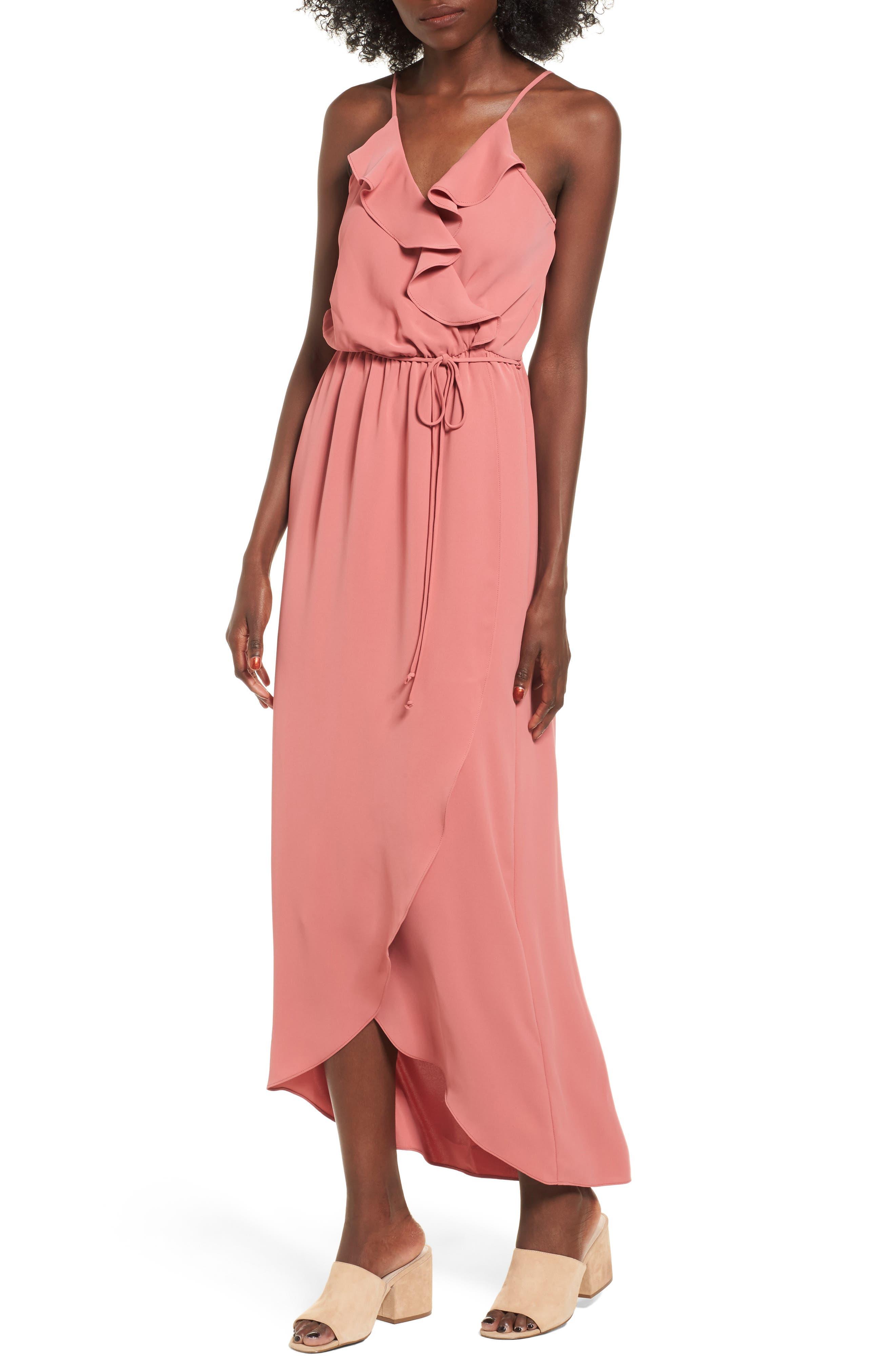Main Image - Everly Ruffle Wrap Maxi Dress