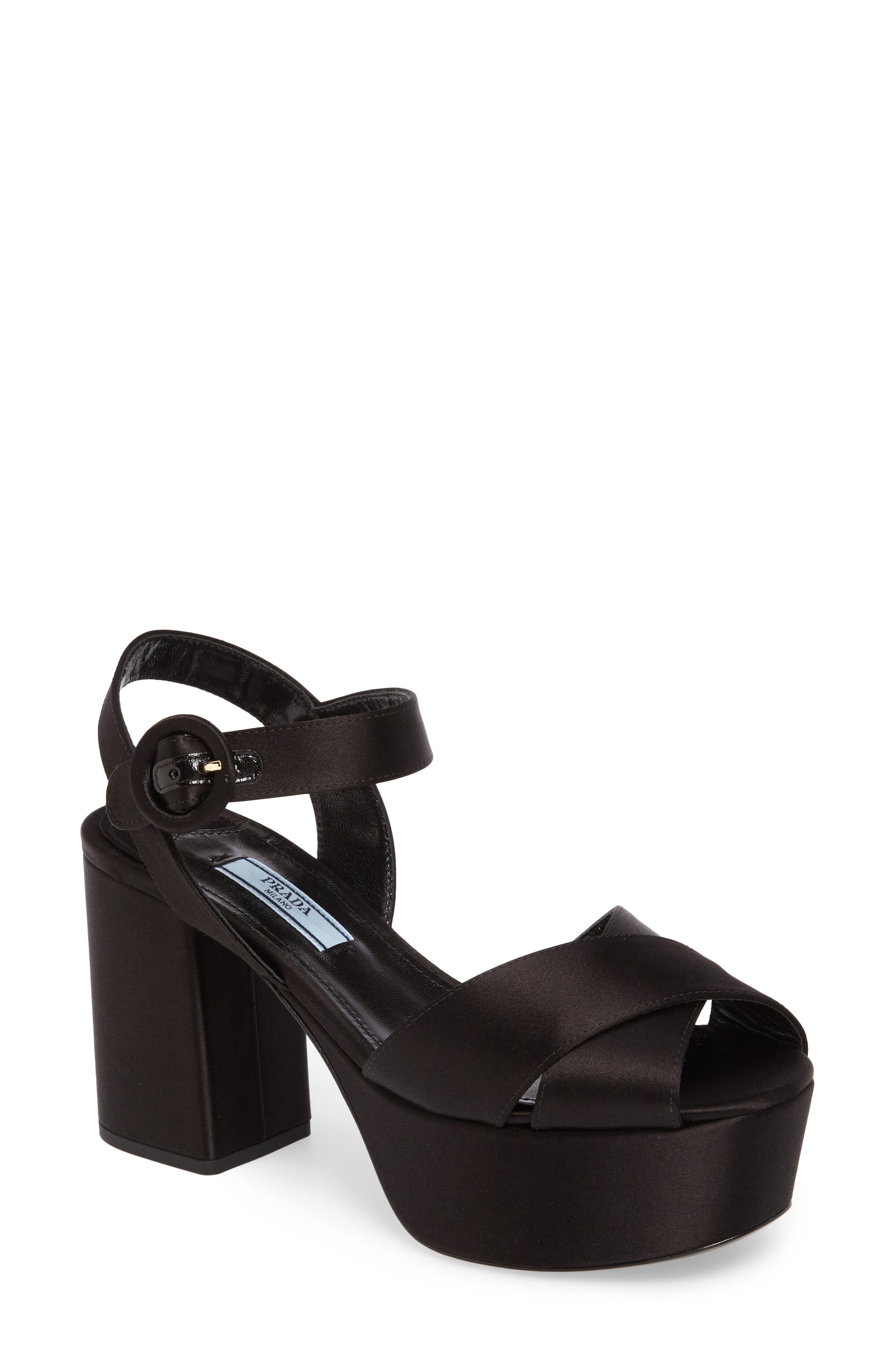 Prada Block Heel Platform Sandal (Women)