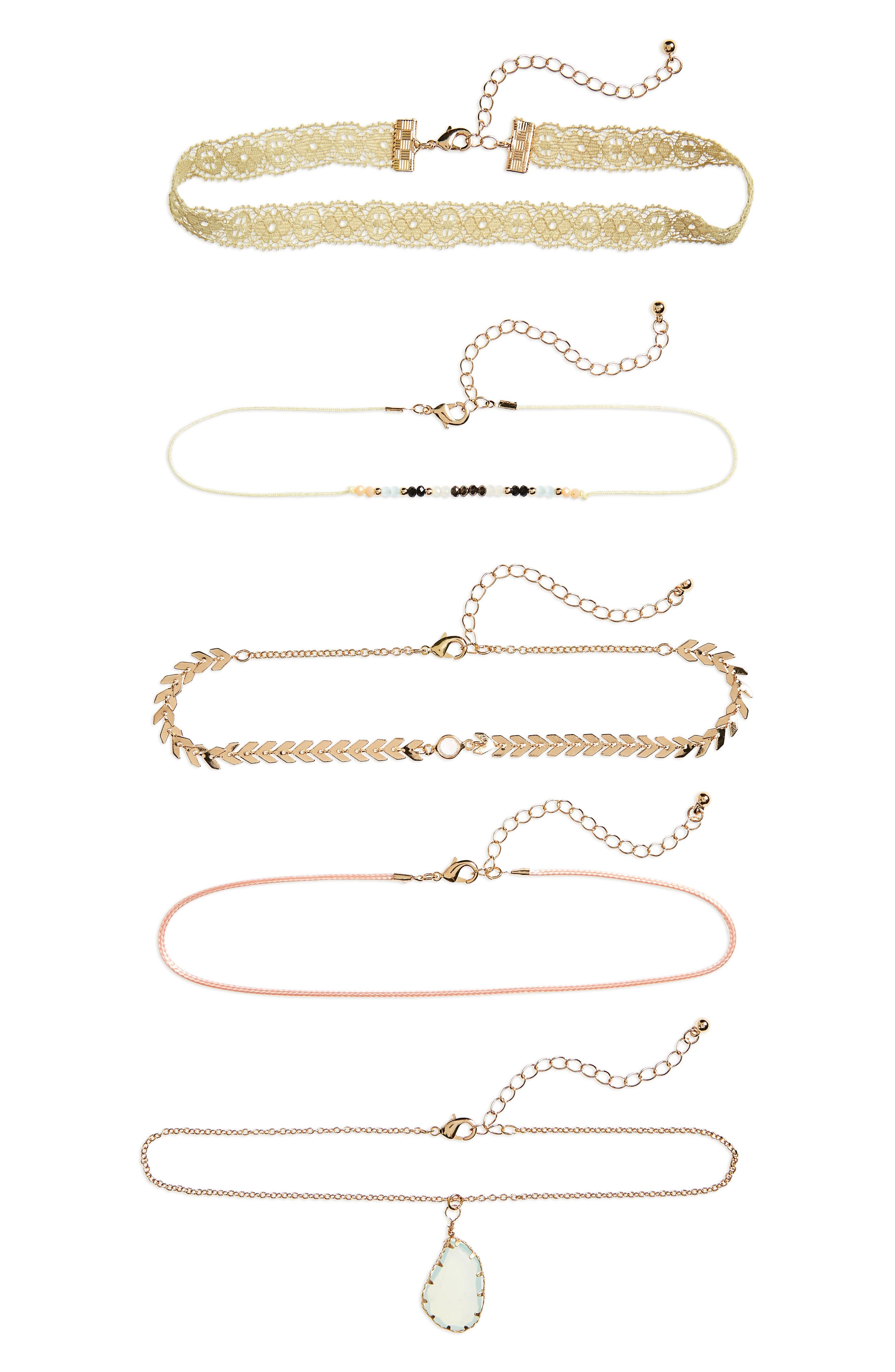 BP. Set of 5 Assorted Choker Necklaces