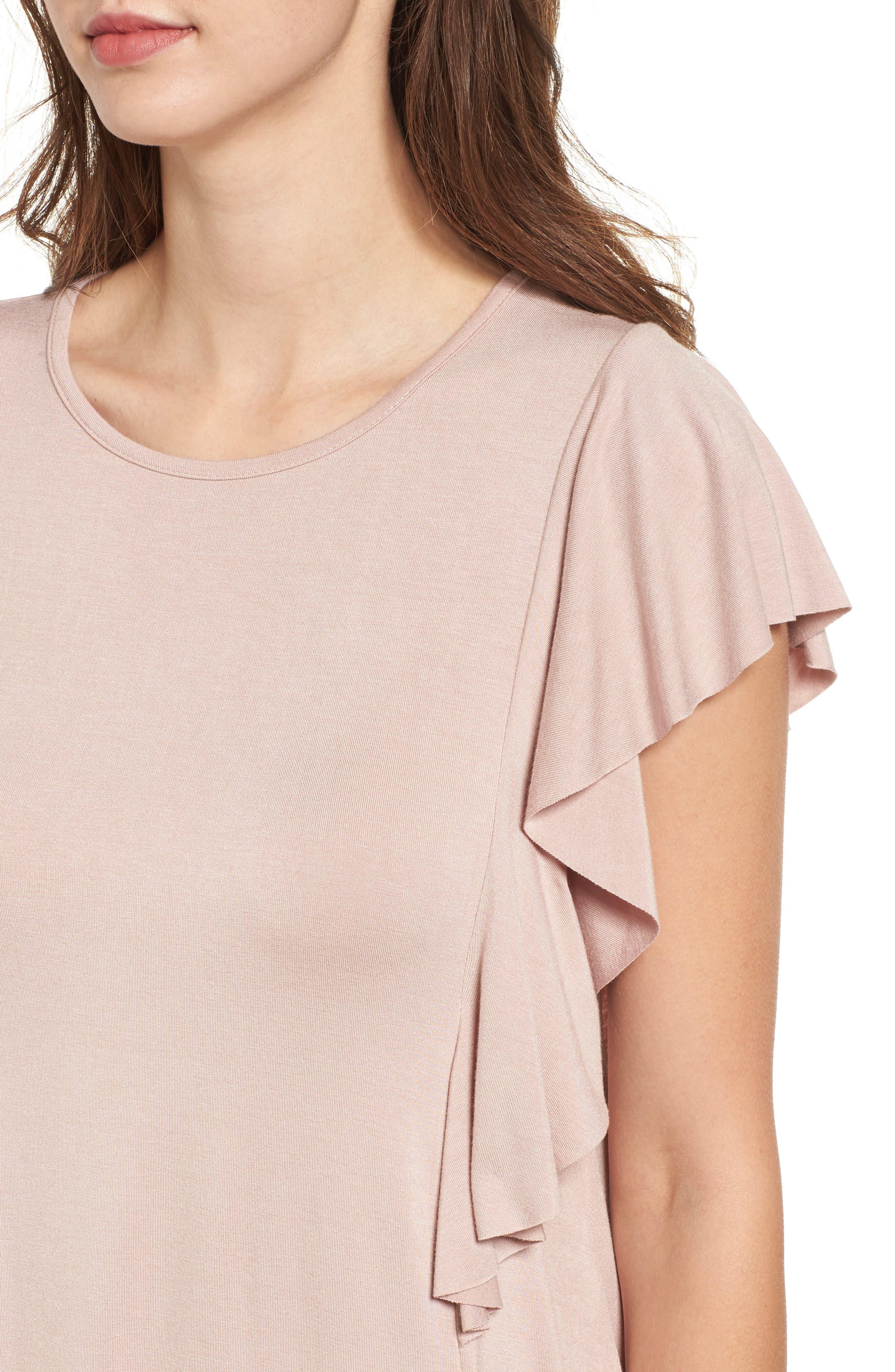 Alternate Image 4  - Socialite Ruffle Sleeve T-Shirt Dress