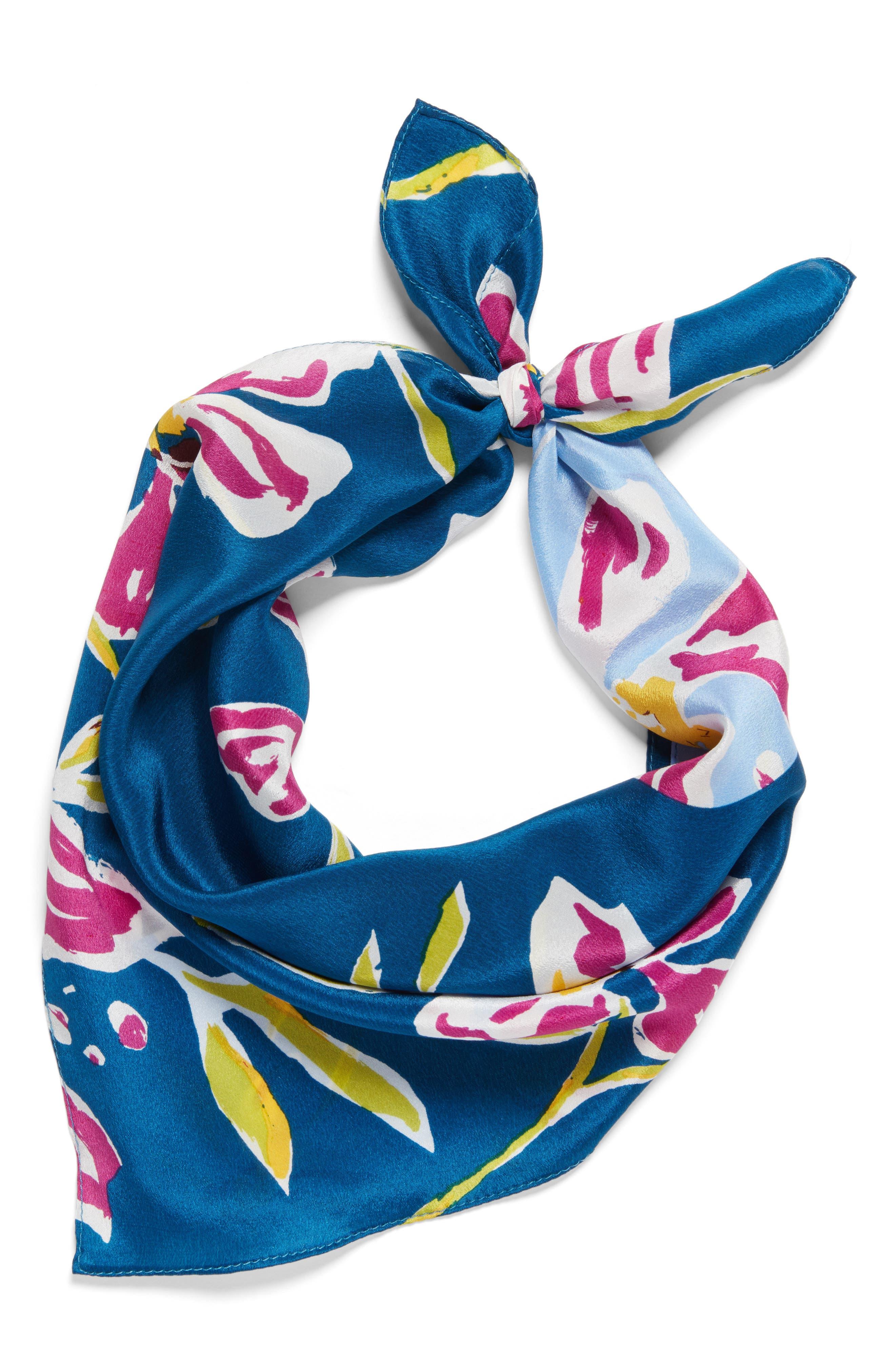 Alternate Image 3  - Halogen® Floral Tropicana Silk Scarf
