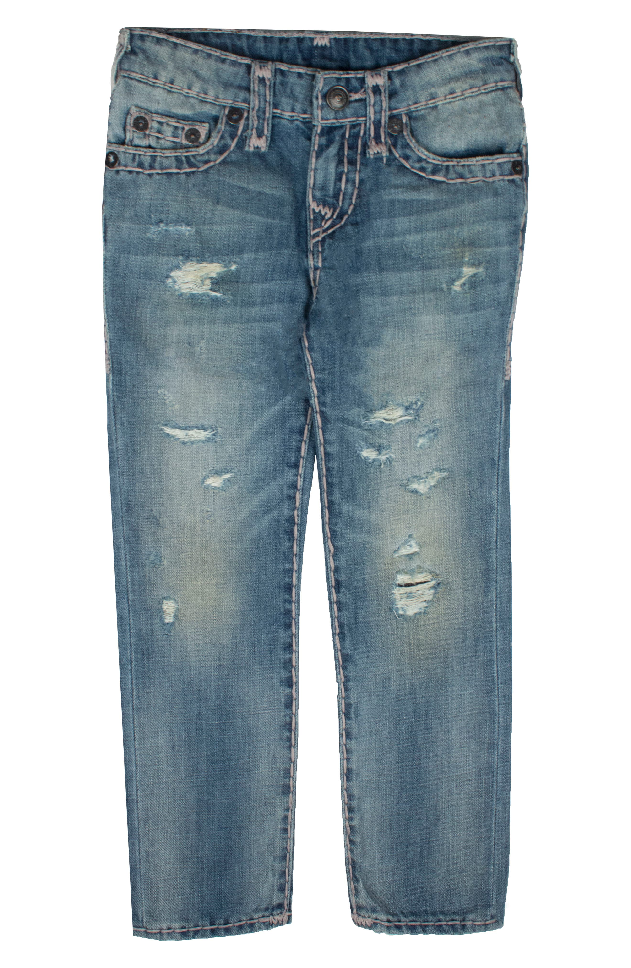 True Religion Brand Jeans Geno Super T Straight Leg Jeans (Big Boys)