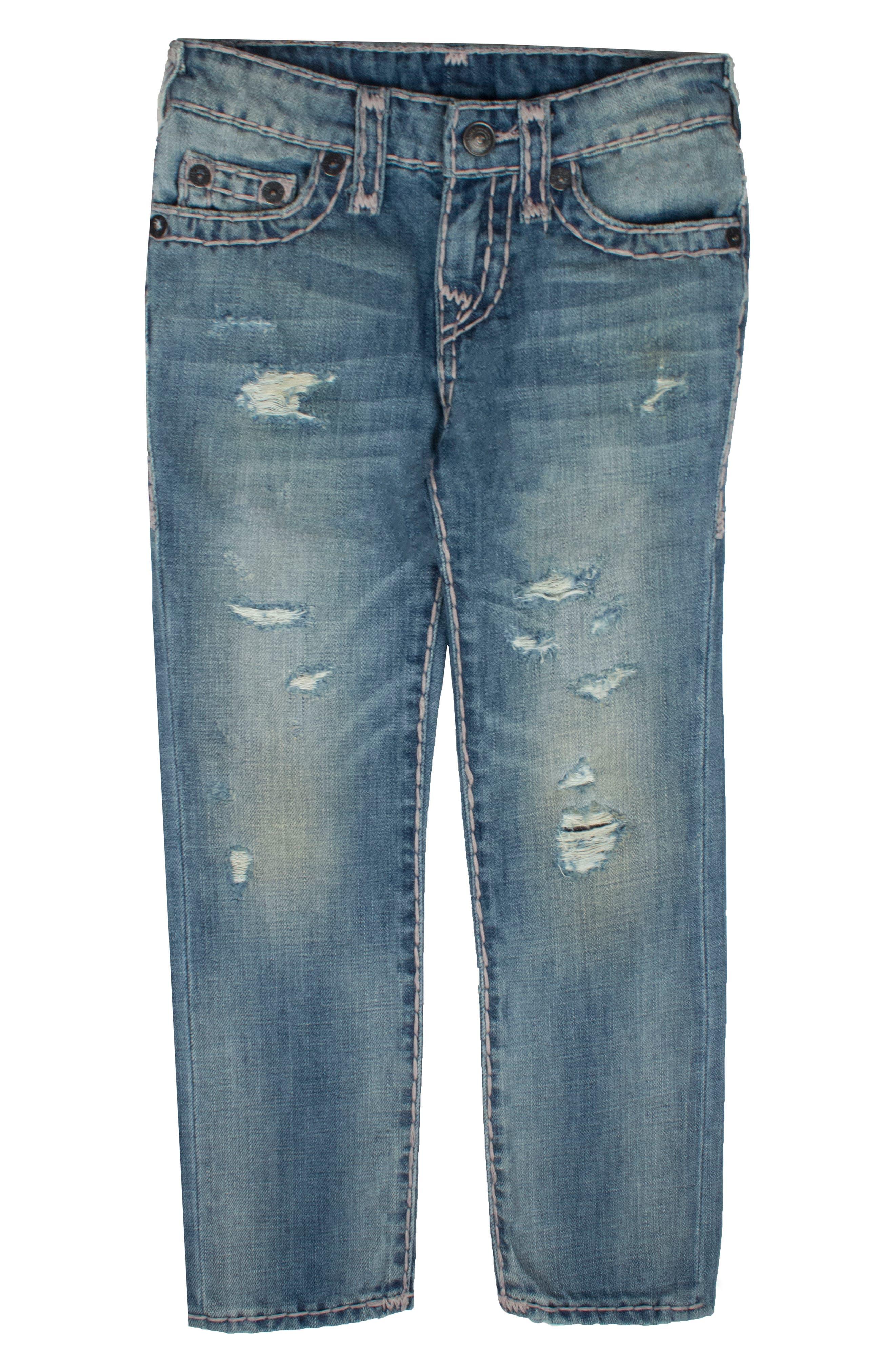 True Religion Brand Jeans Geno Super T Straight Leg Jeans (Big Boys)