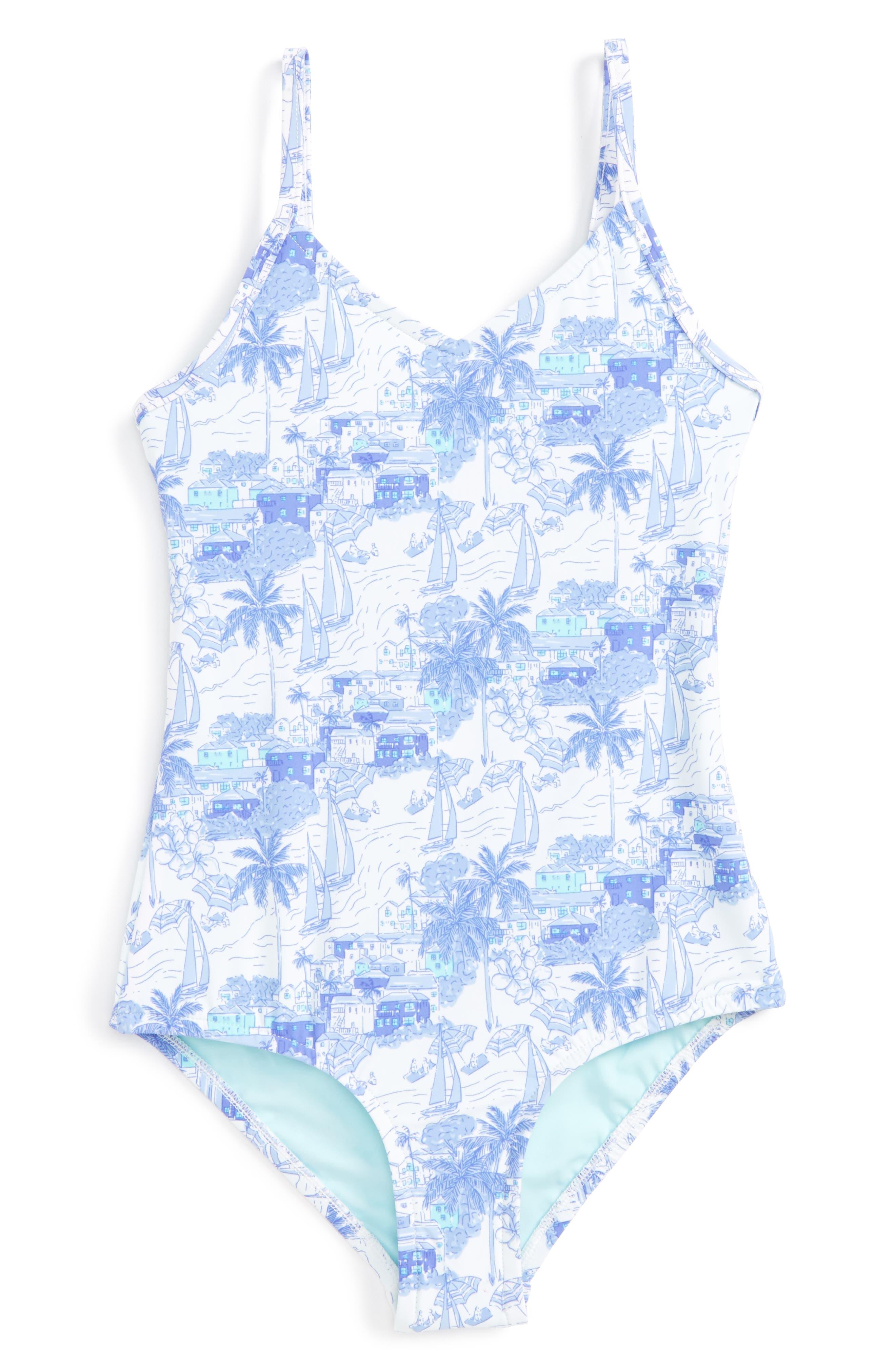 Vineyard Vines Bermuda Scene One-Piece Swimsuit (Toddler Girls)