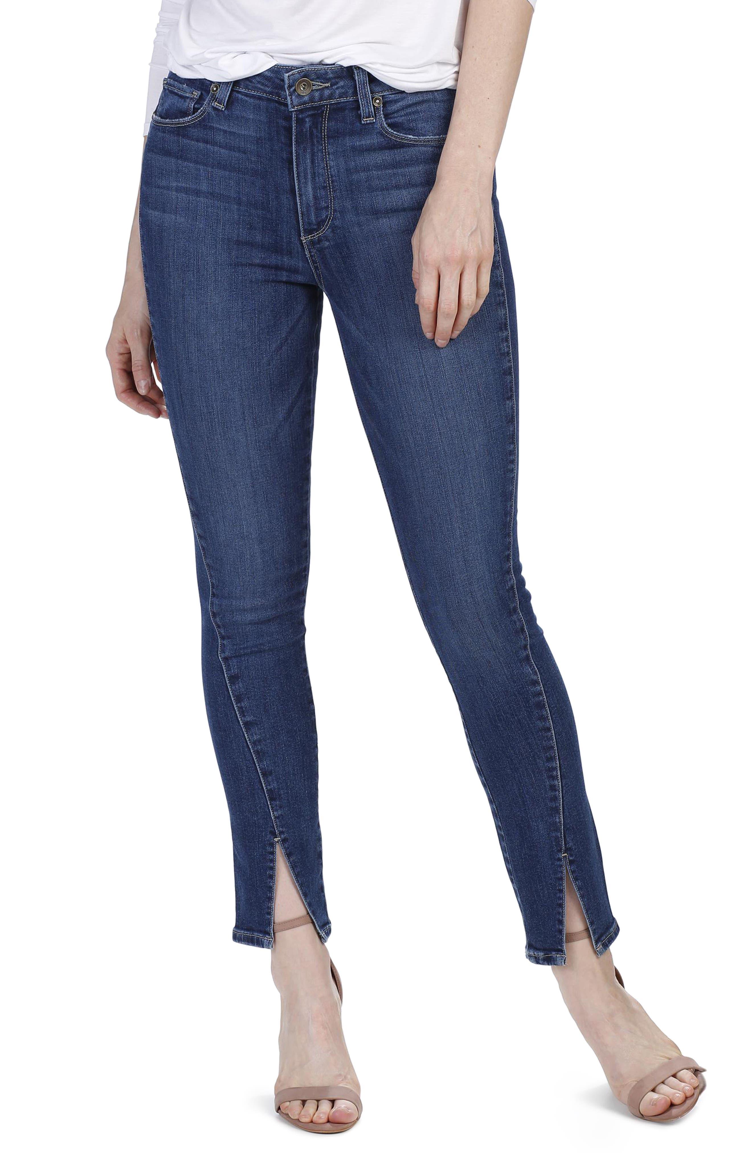 PAIGE Julia High Waist Straight Leg Jeans with Twisted Seams (Mai)