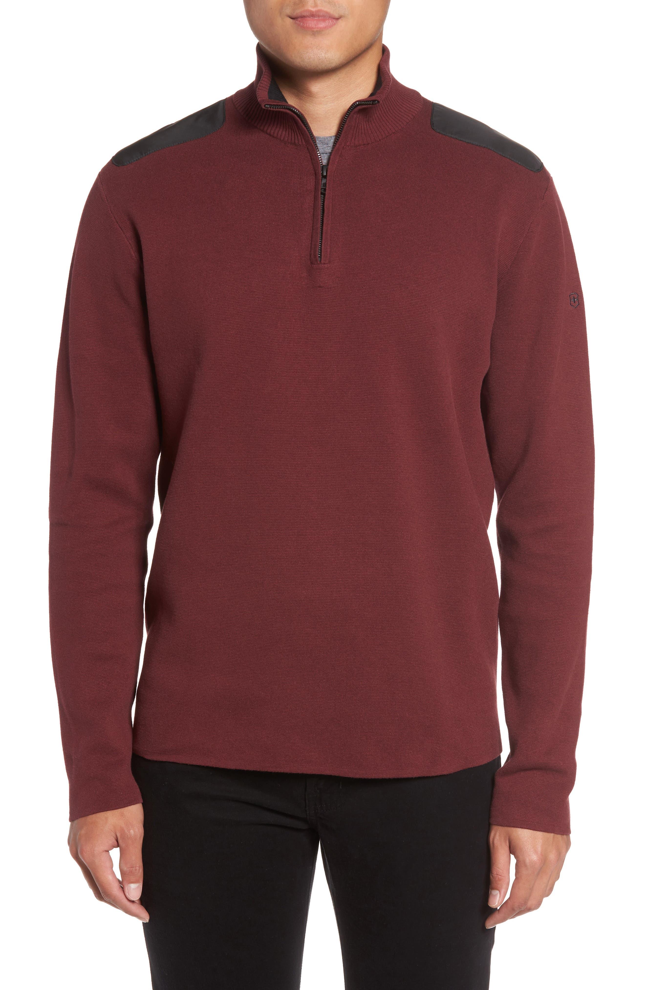 VictorinoxSwiss Army® 'Lieutenant' Half Zip Sweater
