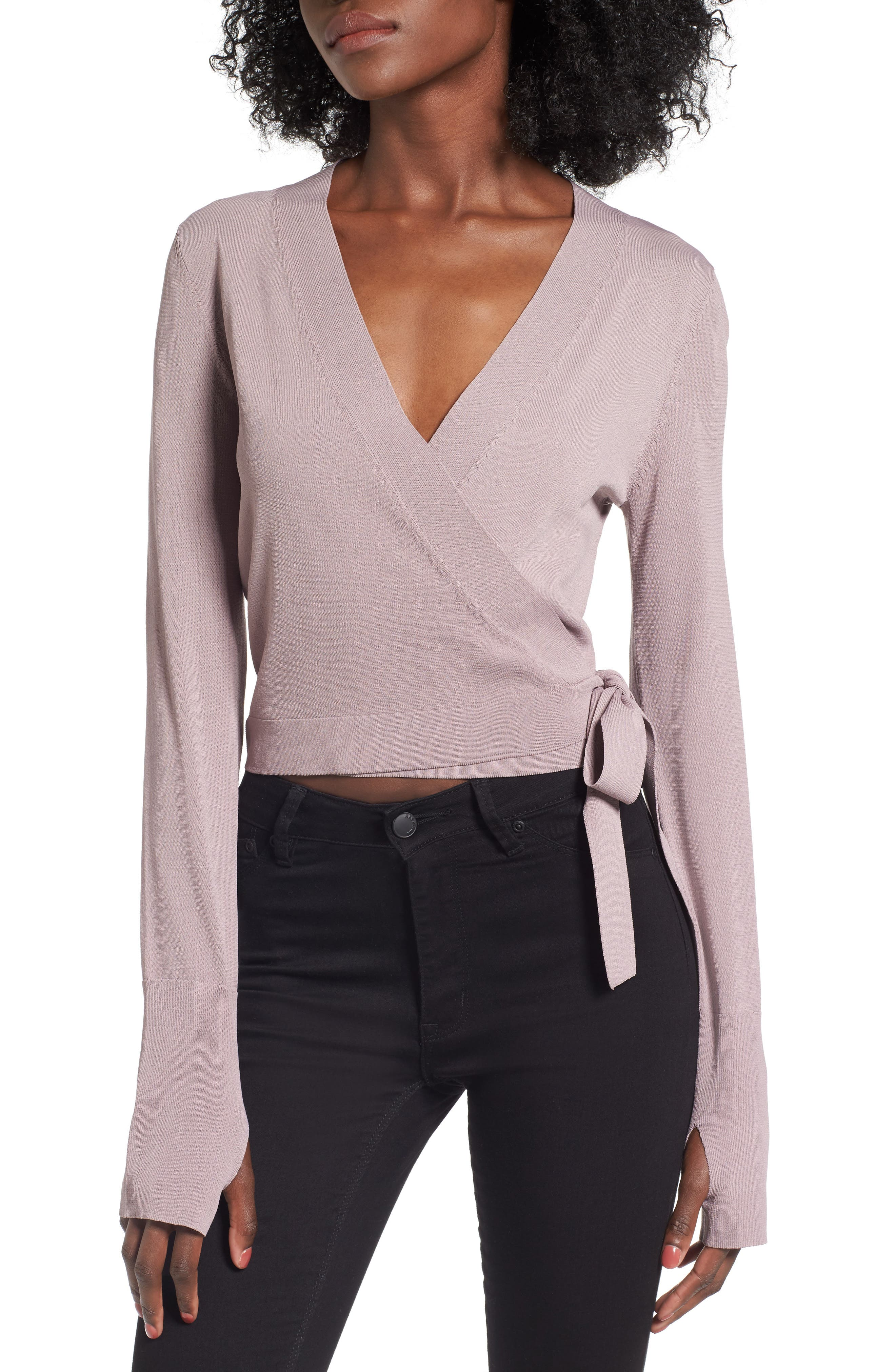 Leith Ballet Wrap Sweater