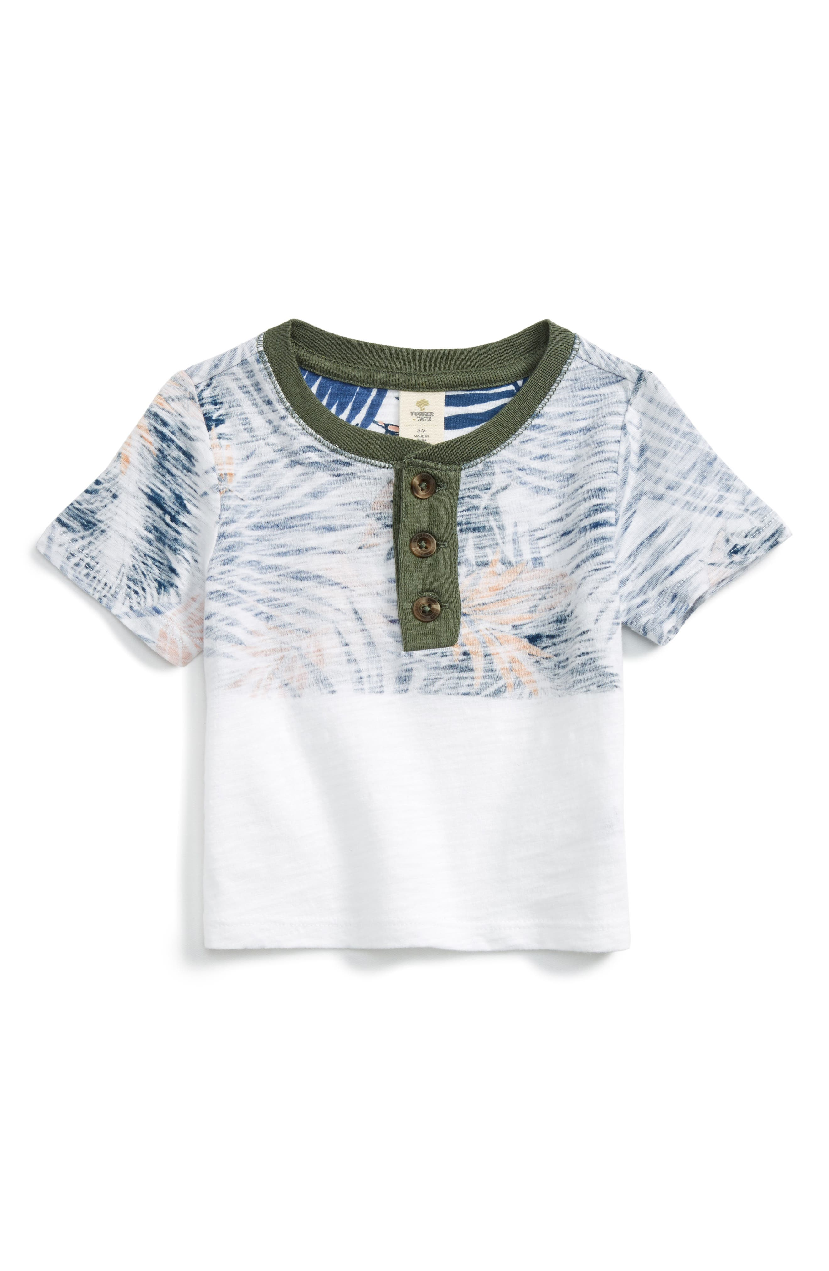 Tucker + Tate Print Henley Shirt (Baby Boys)