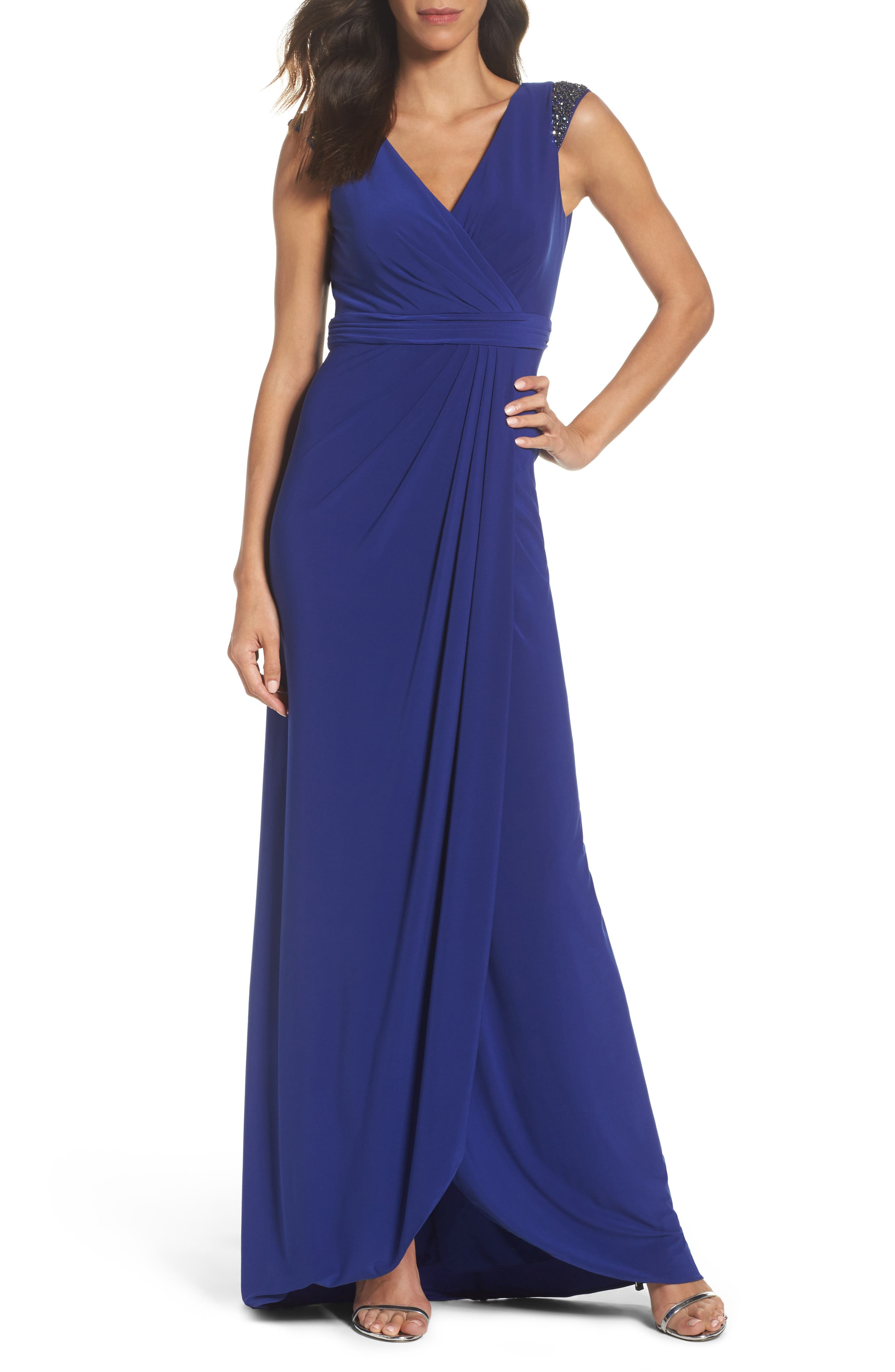 Alternate Image 1 Selected - Adrianna Papell Jersey Gown