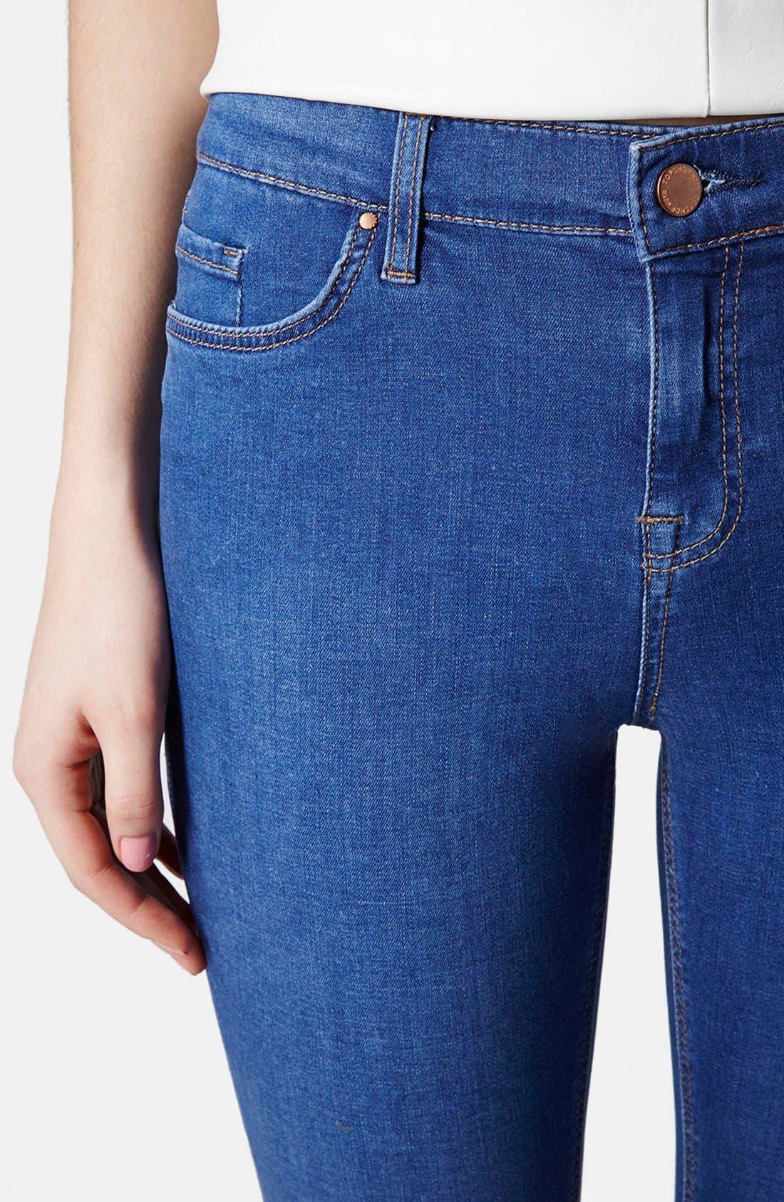 Alternate Image 4  - Topshop 'Leigh' Ankle Skinny Jeans (Mid Denim)