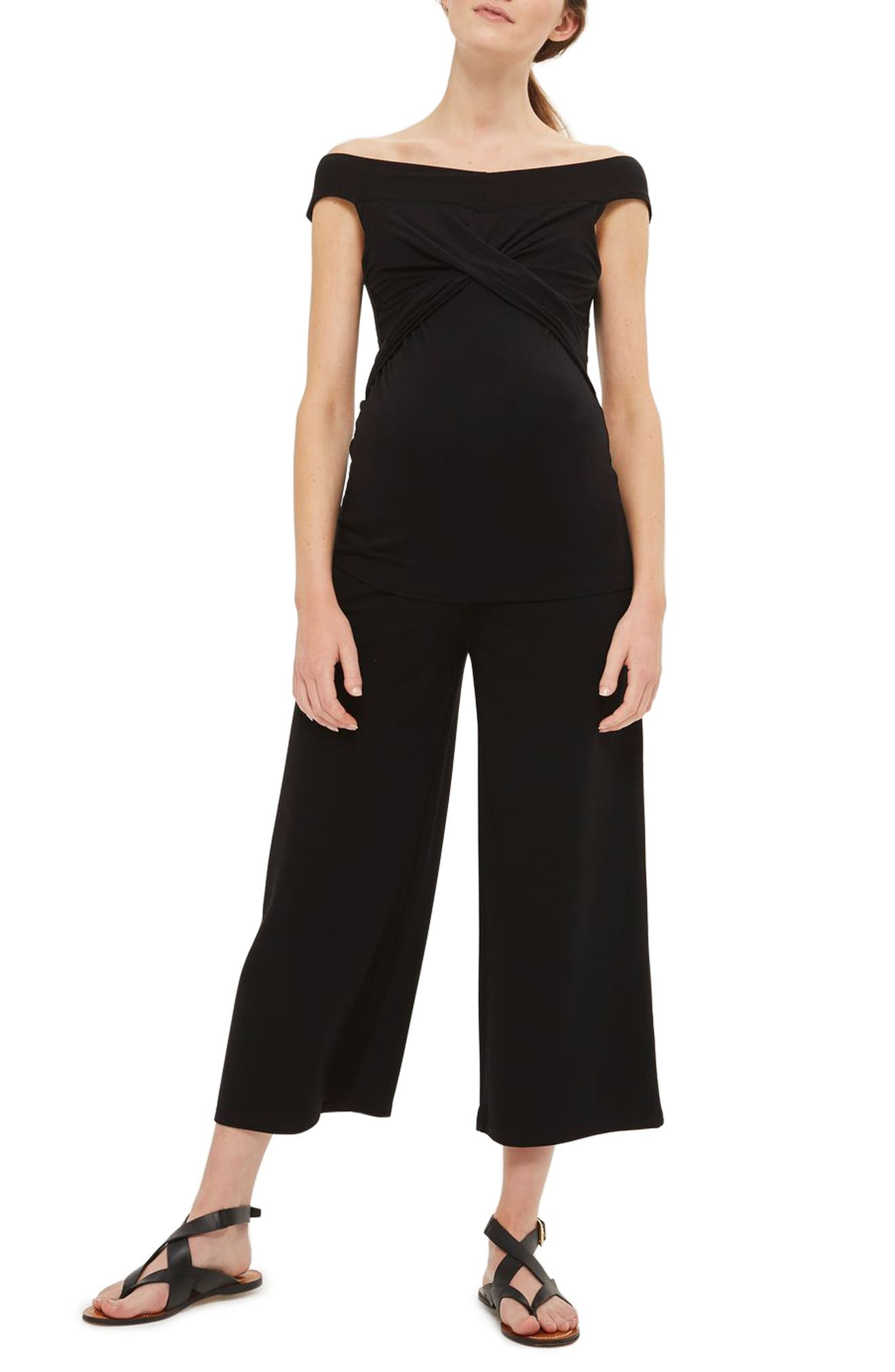 Topshop Bardot Nursing/Maternity Top