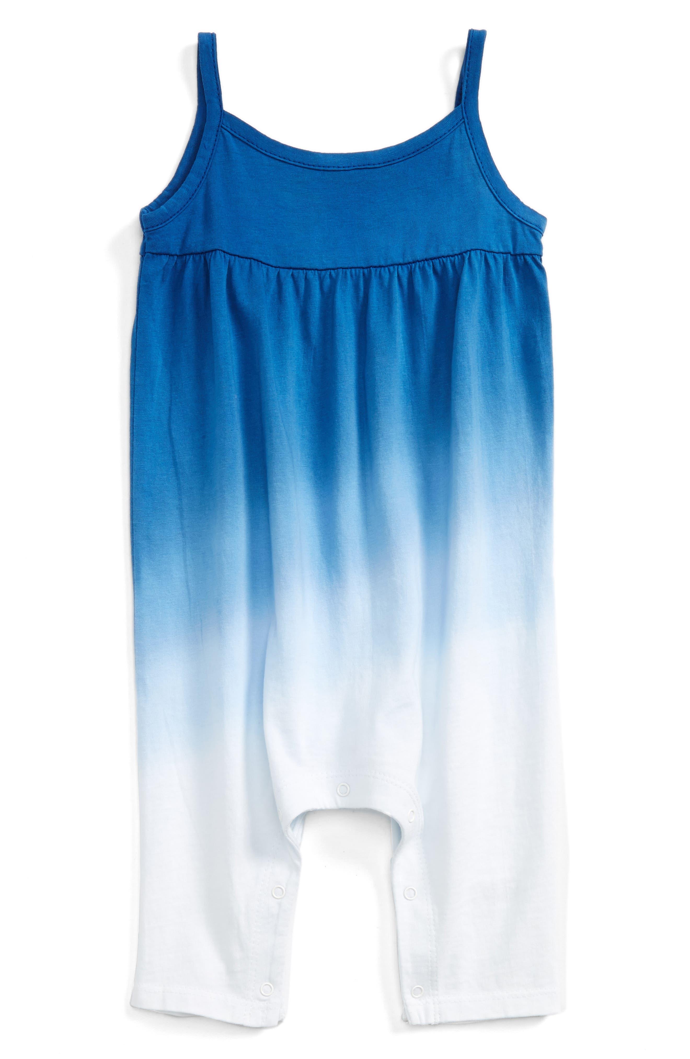 Nordstrom Baby Dip Dye Sleeveless Romper (Baby Girls)