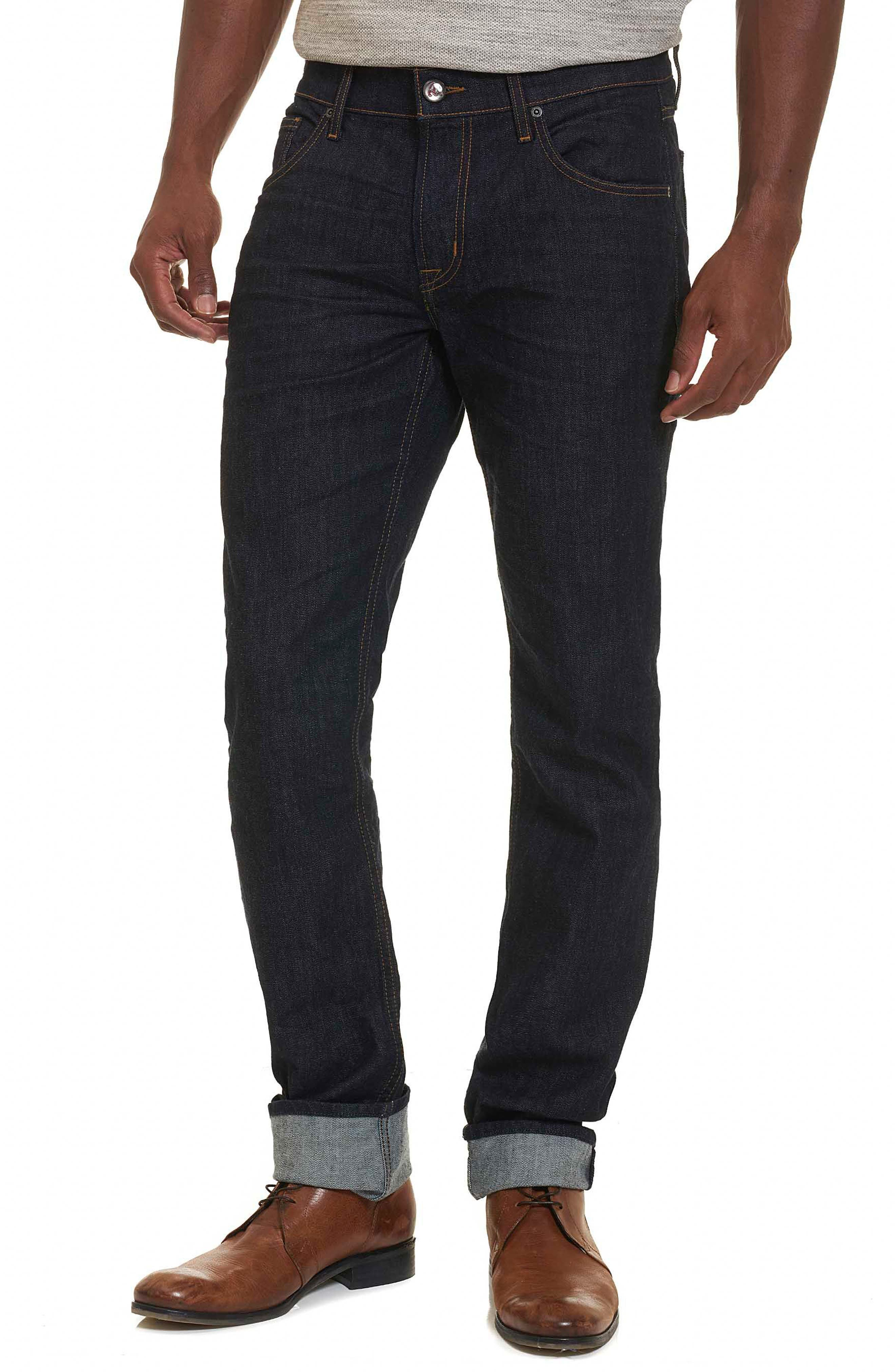 Robert Graham Resist Tailored Fit Jeans (Indigo)