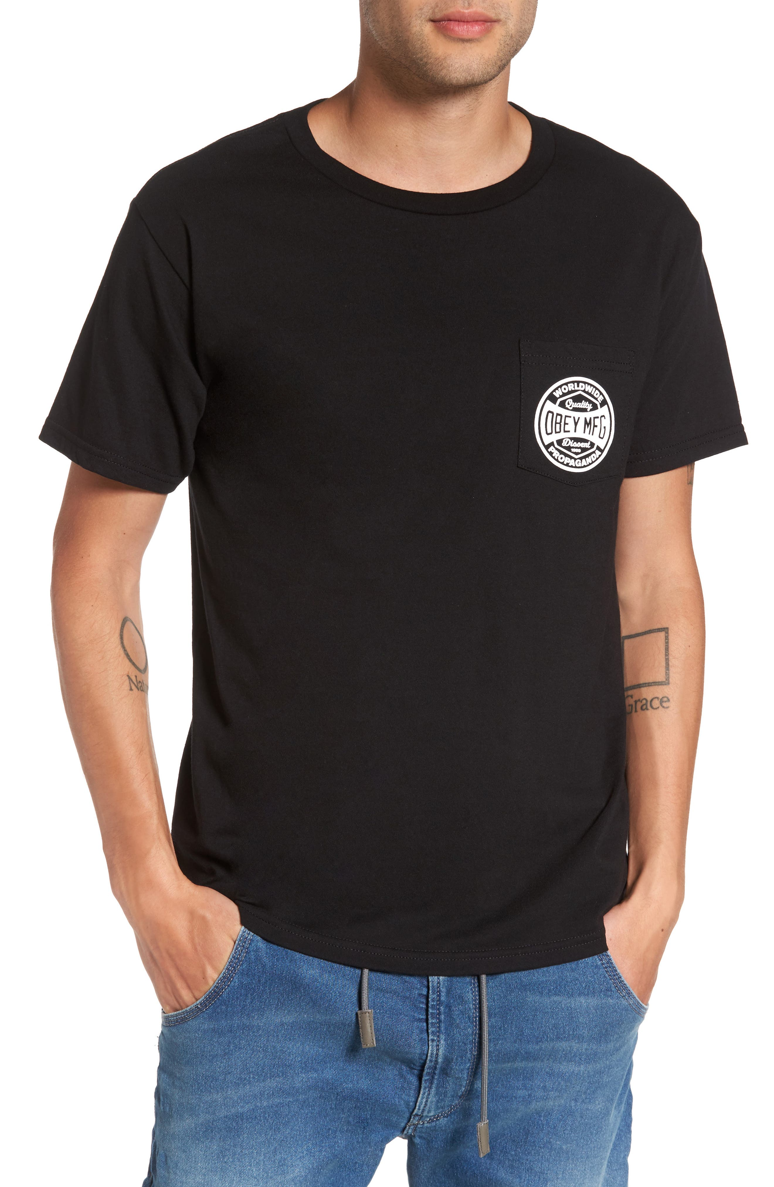 Obey Dissent & Propaganda Graphic T-Shirt
