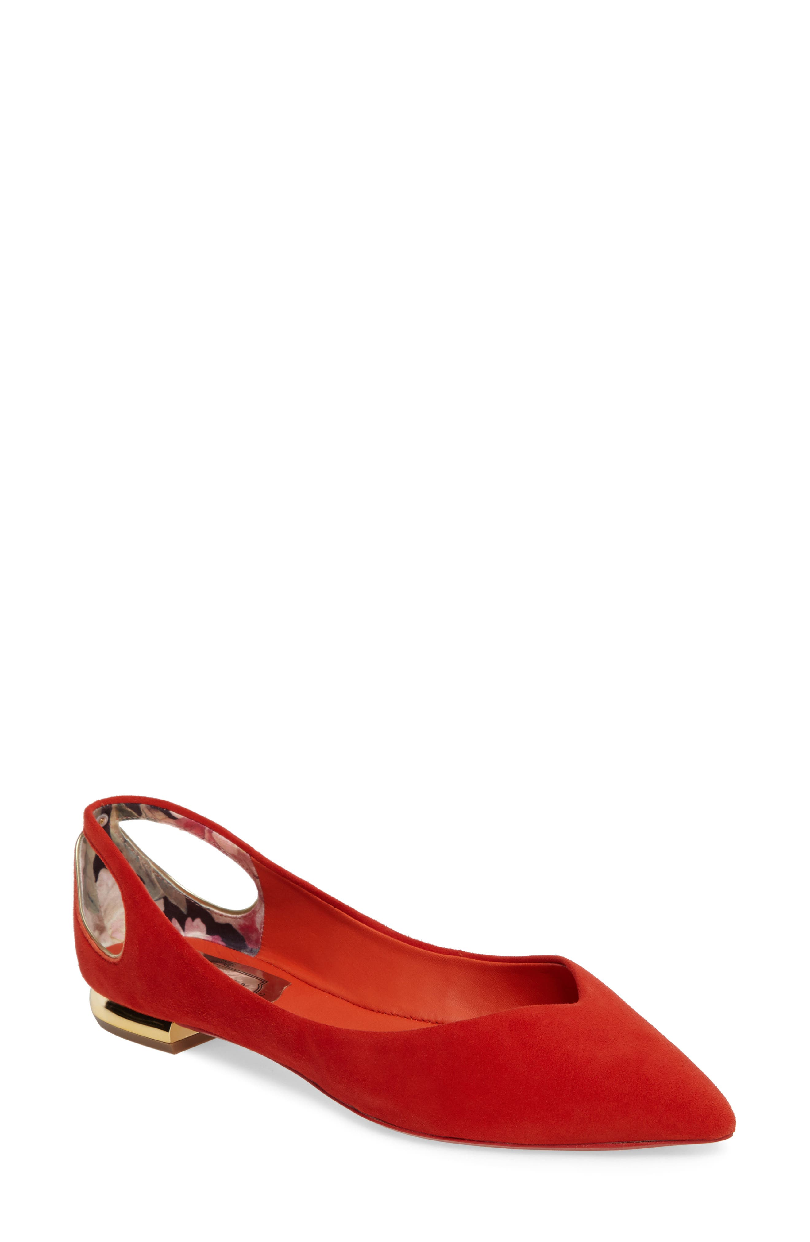 Ted Baker London Dabih Pointy Toe Flat (Women)