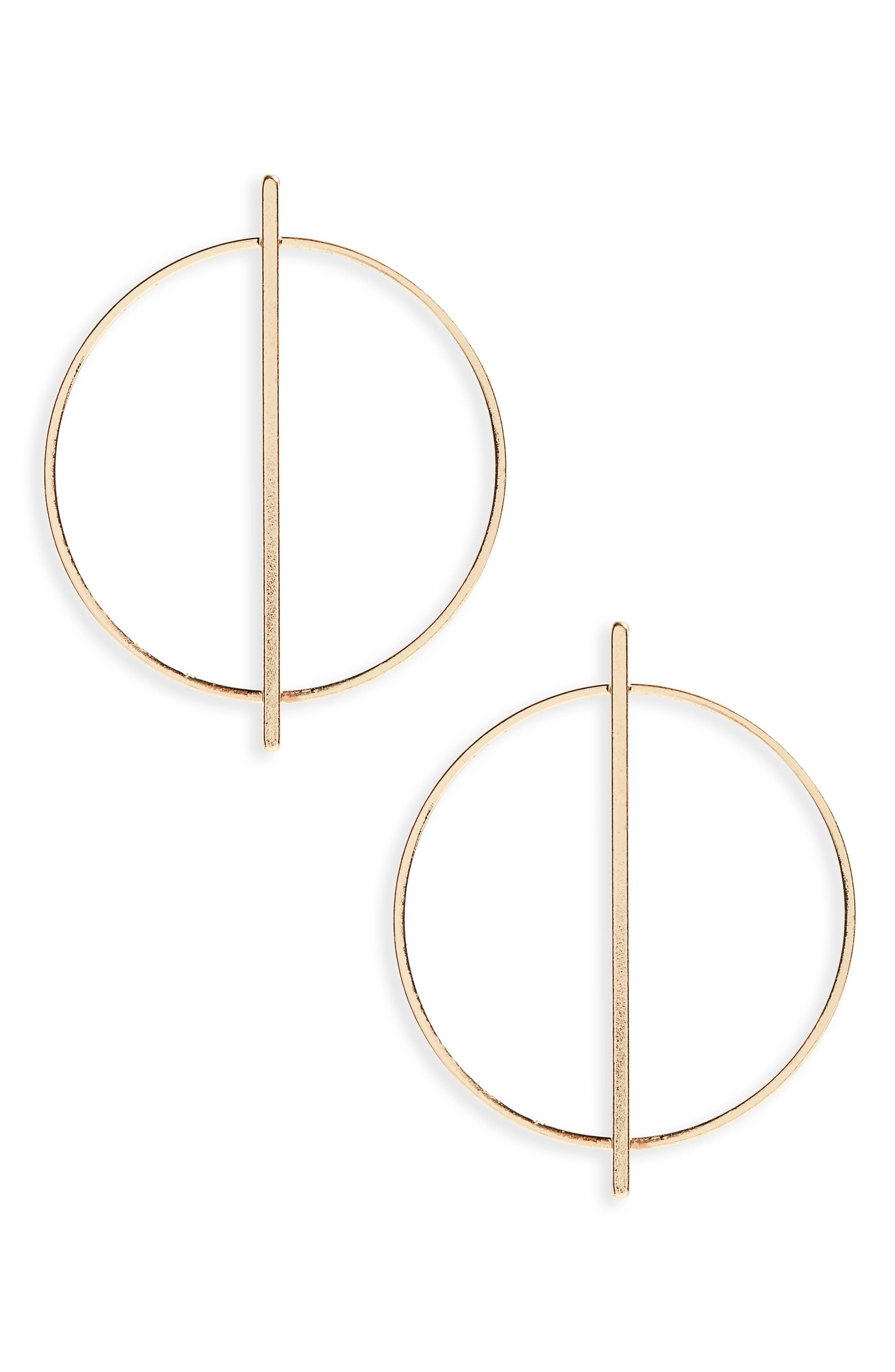 Loren Olivia Circle Hoop Earrings