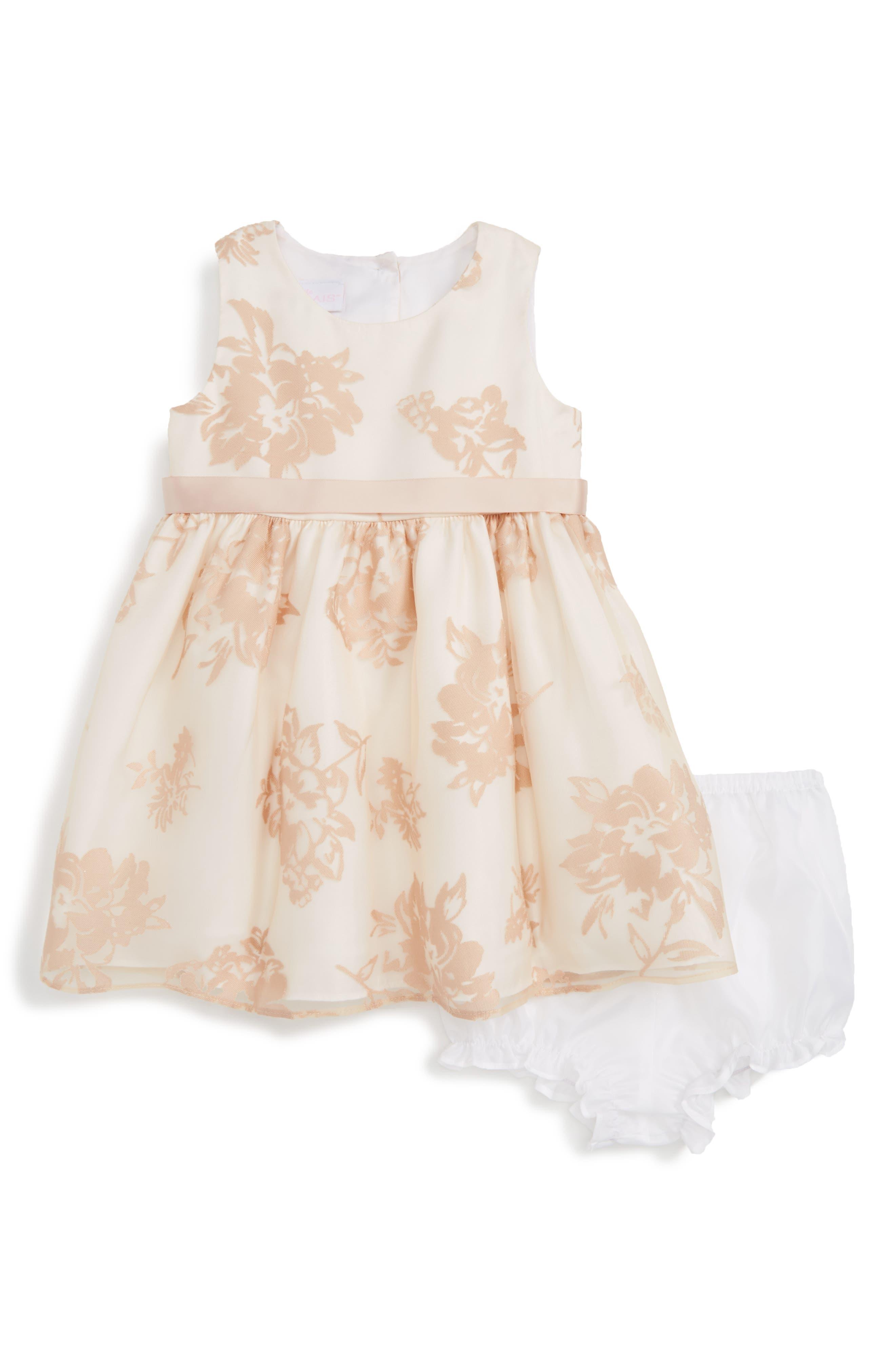 Frais Shadow Flower Fit & Flare Dress (Baby Girls)