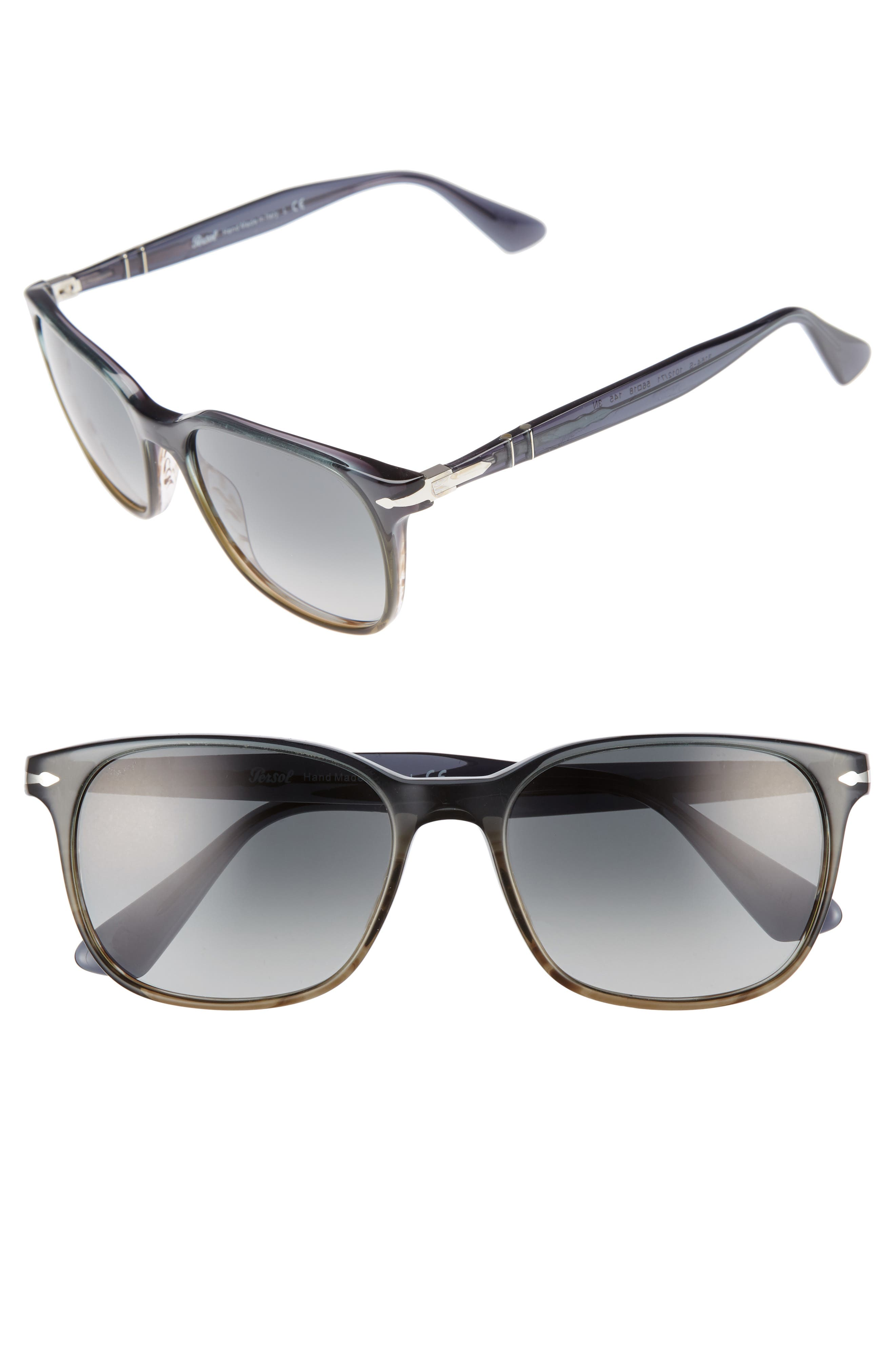 Persol Officina 56mm Polarized Sungasses