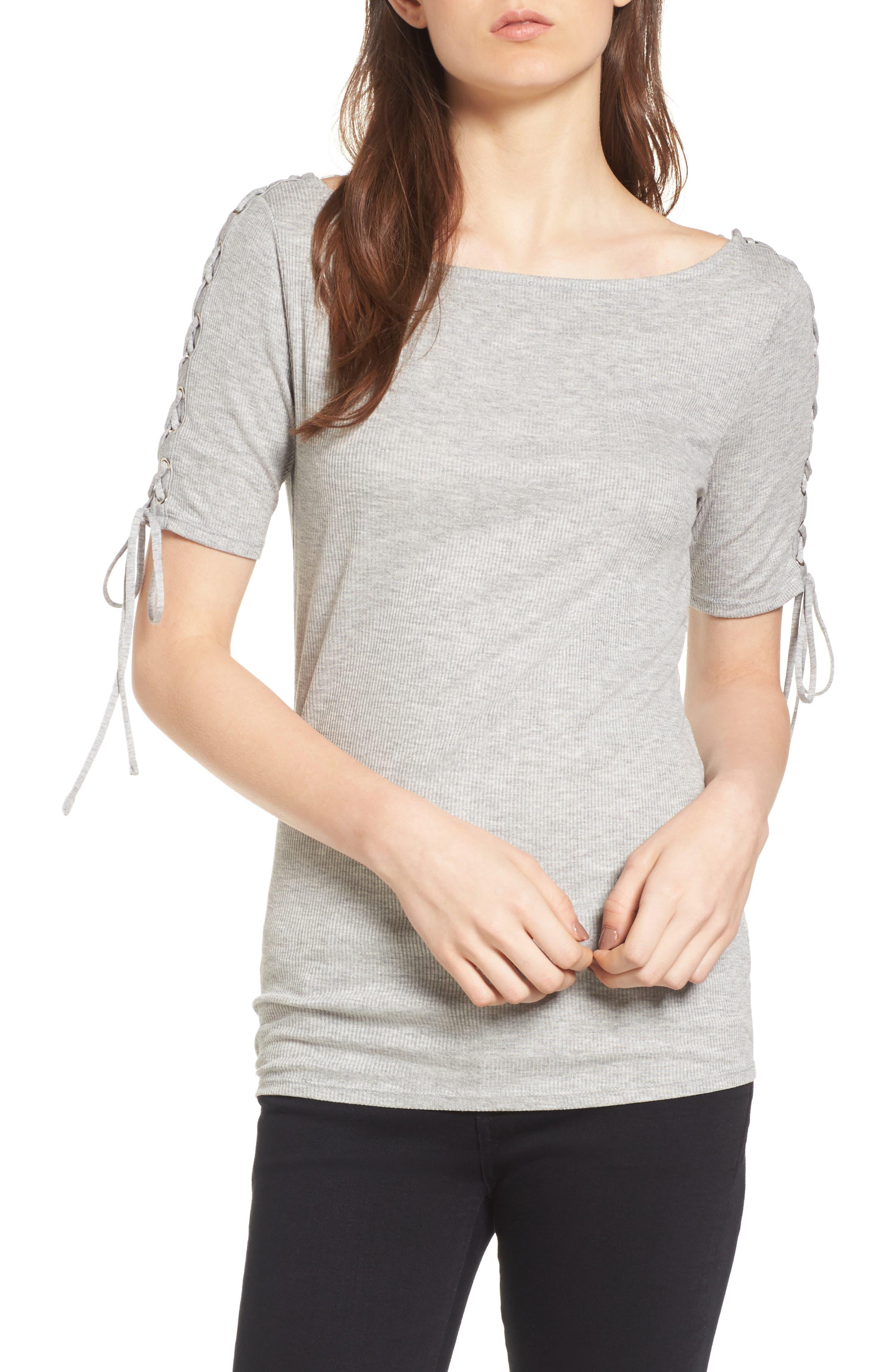 Trouvé Lace-Up Sleeve Top