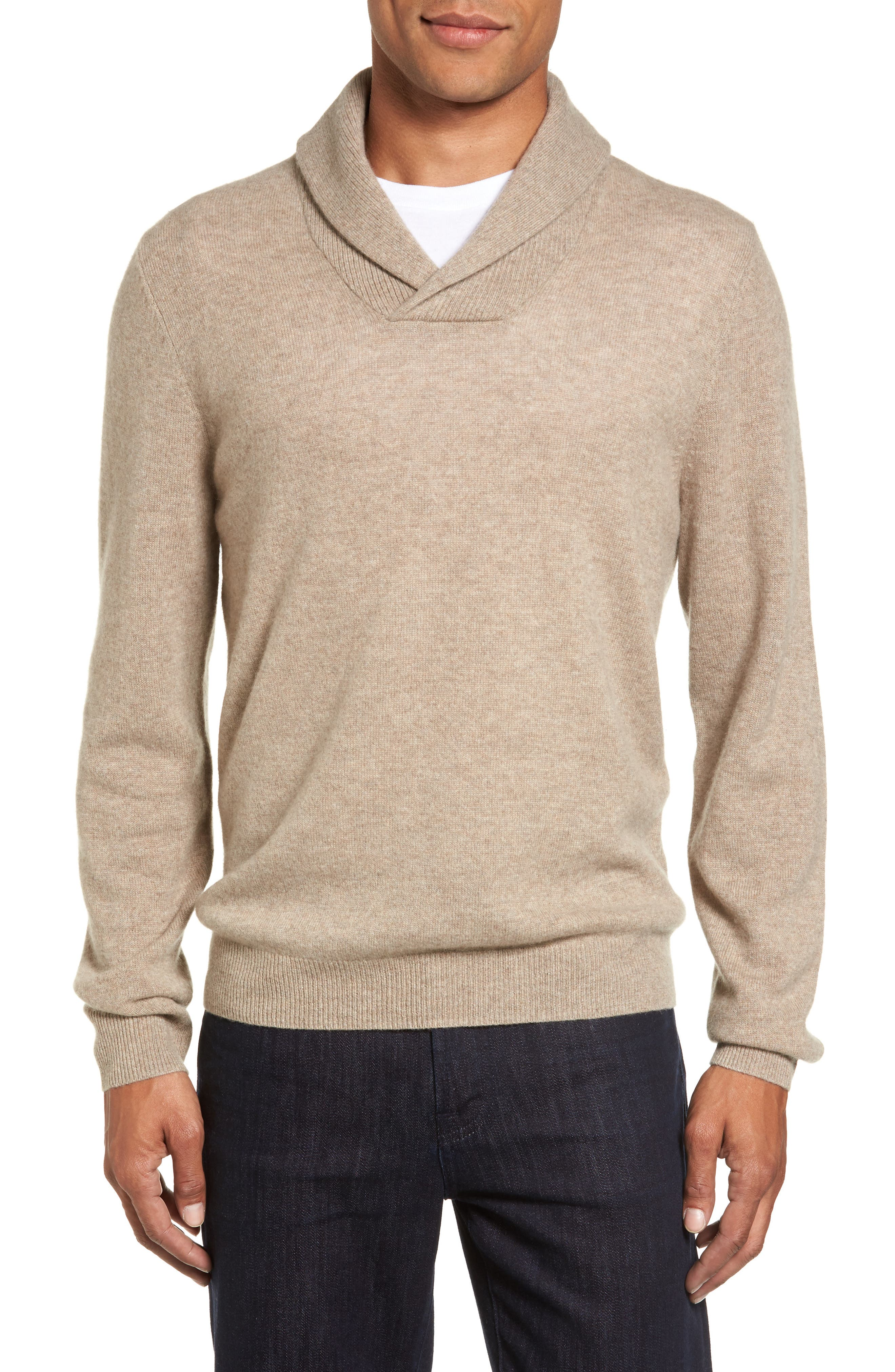 Nordstrom Men's Shop Shawl Collar Cashmere Pullover (Regular & Tall)