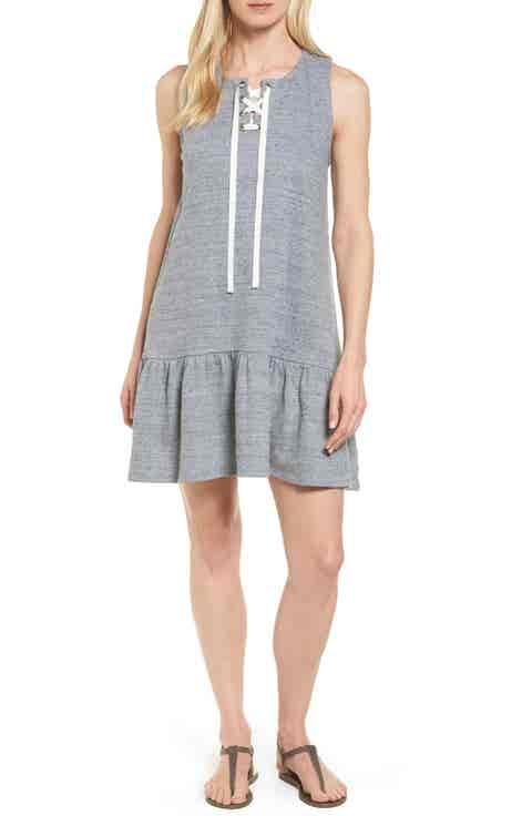 Caslon® Jersey Drop Waist Dress (Regular   Petite)