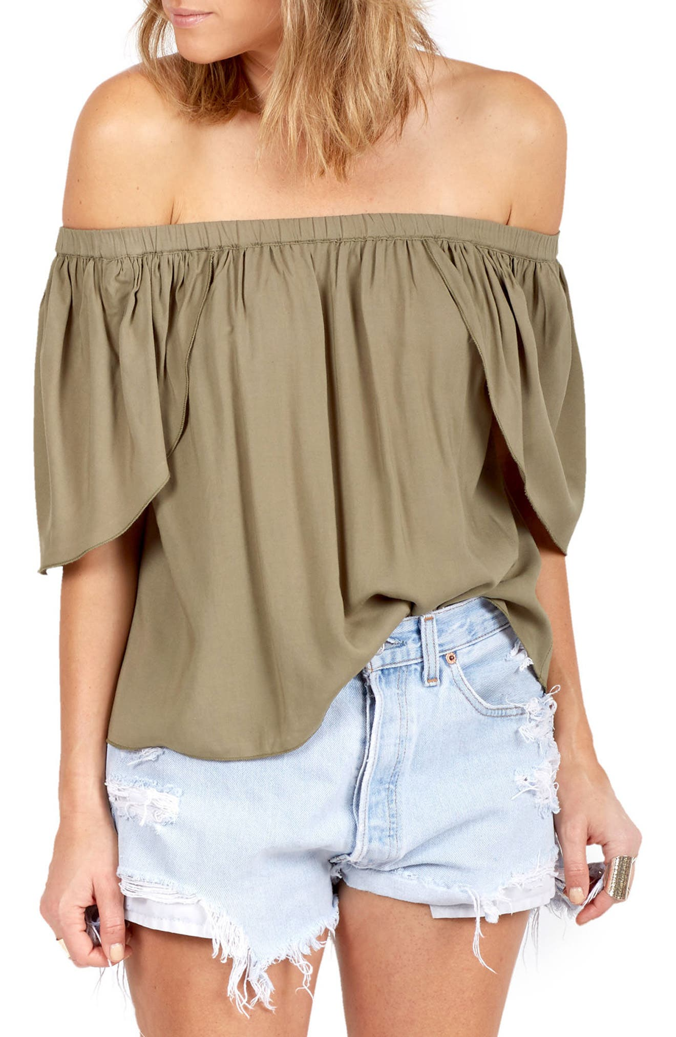 DELACY Allegra Off the Shoulder Top