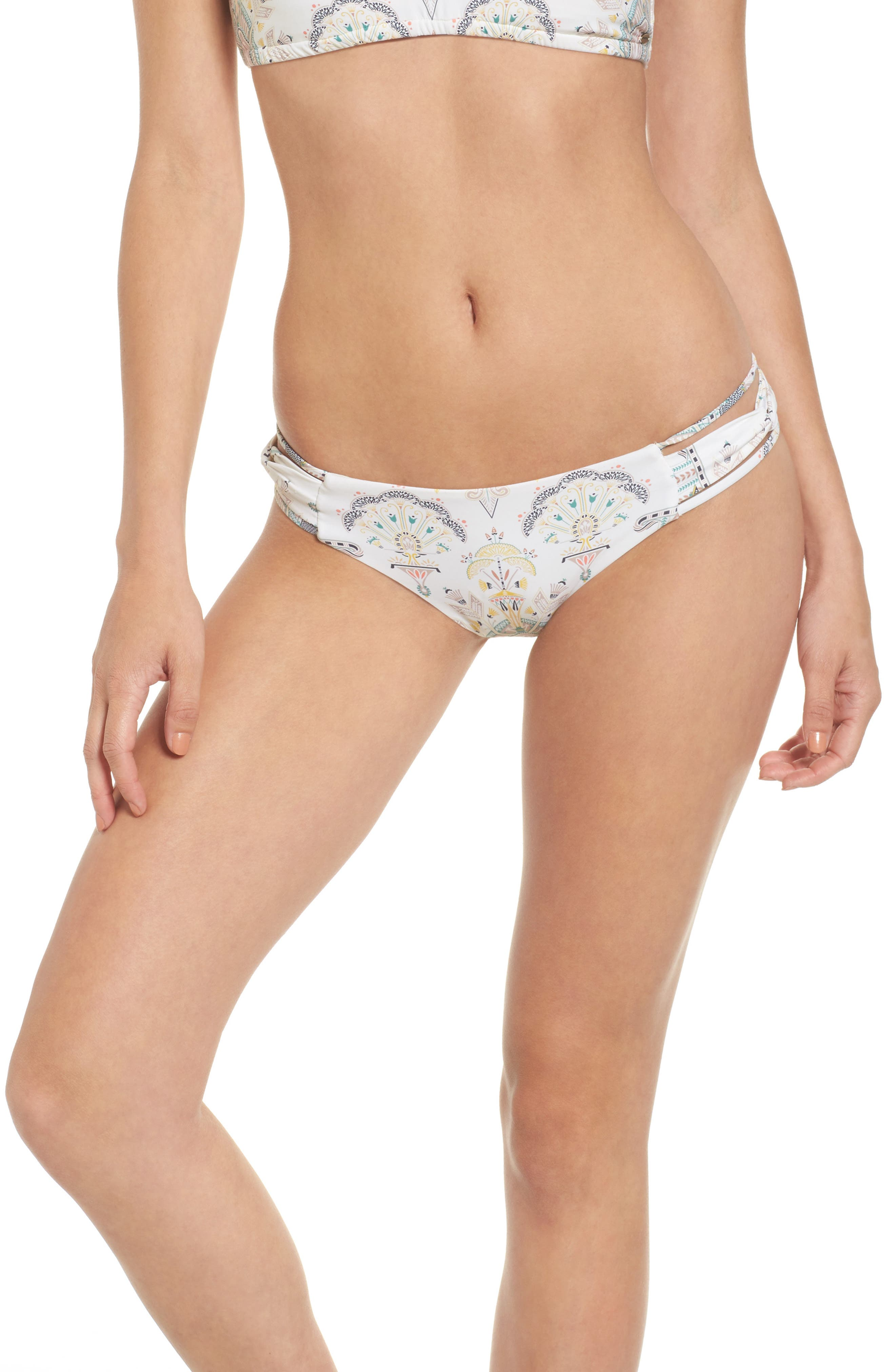 O'Neill Delany Strappy Tab Side Hipster Bikini Bottoms