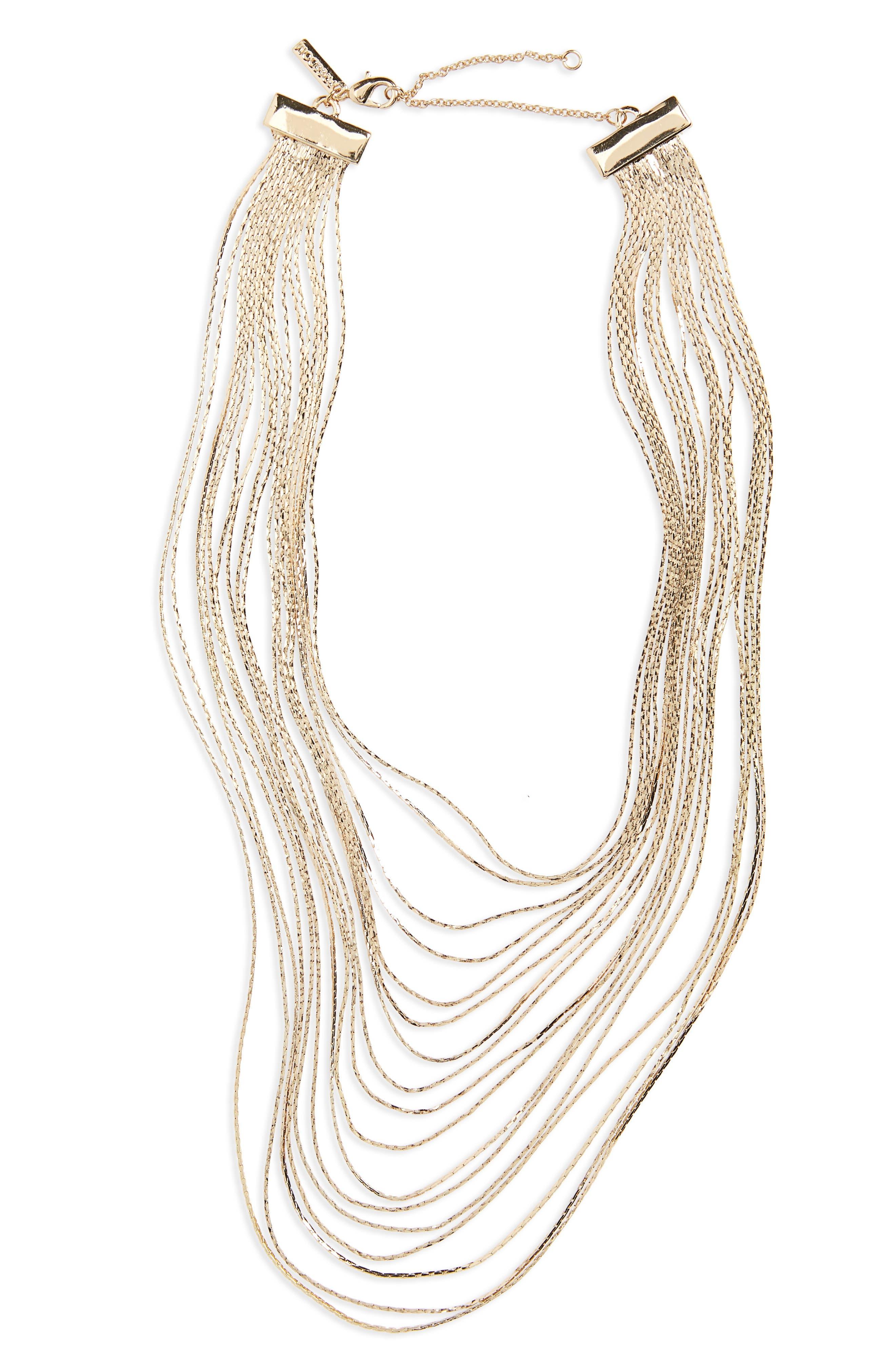 Topshop Multistrand Necklace