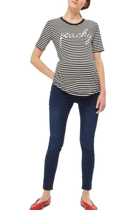 Topshop Joni Crop Skinny Maternity Jeans